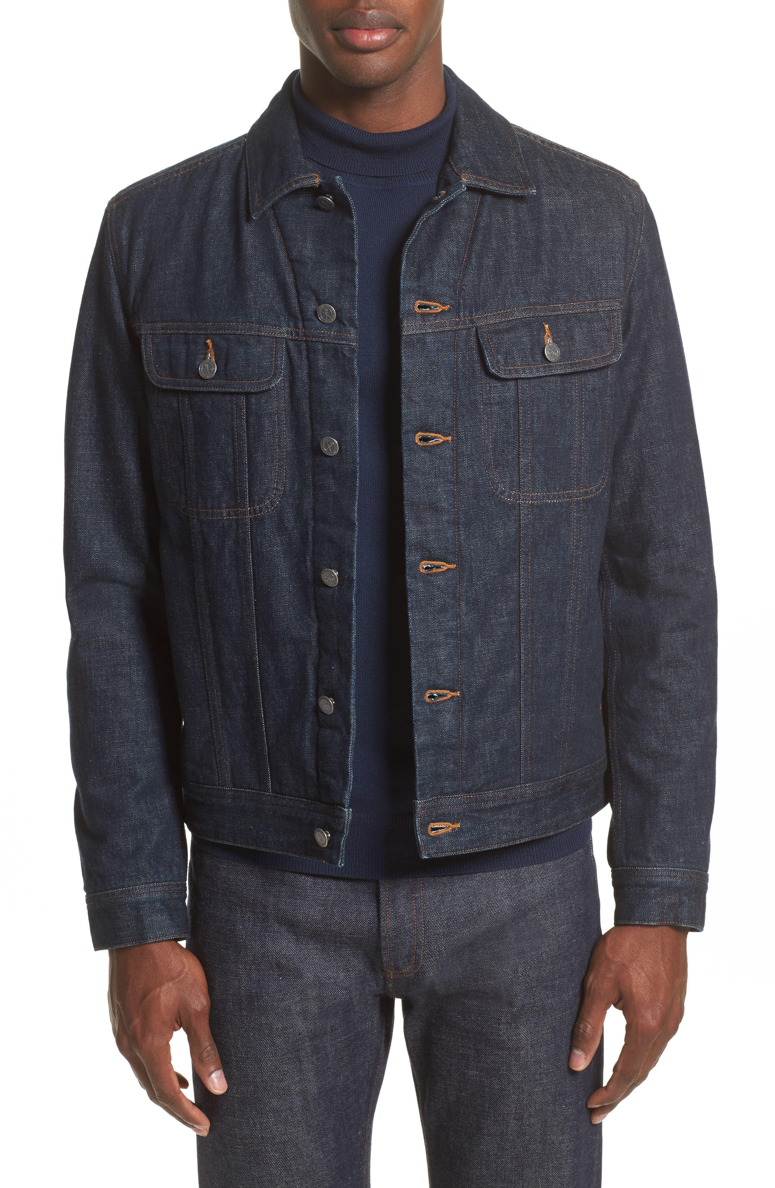Denim Shirt Jacket,                         Main,                         color, Indigo