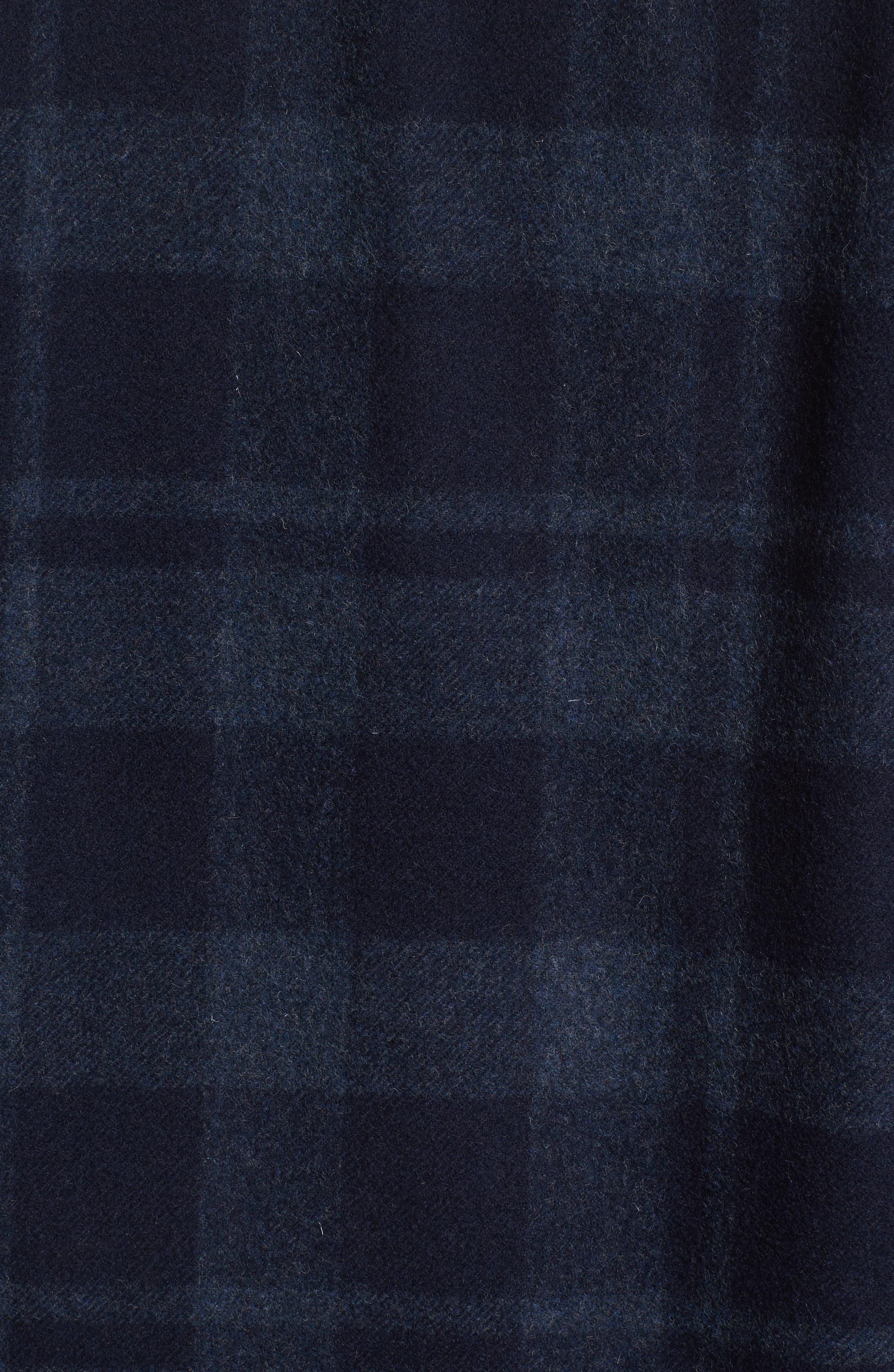 Flannel Plaid Shirt,                             Alternate thumbnail 5, color,                             Marine