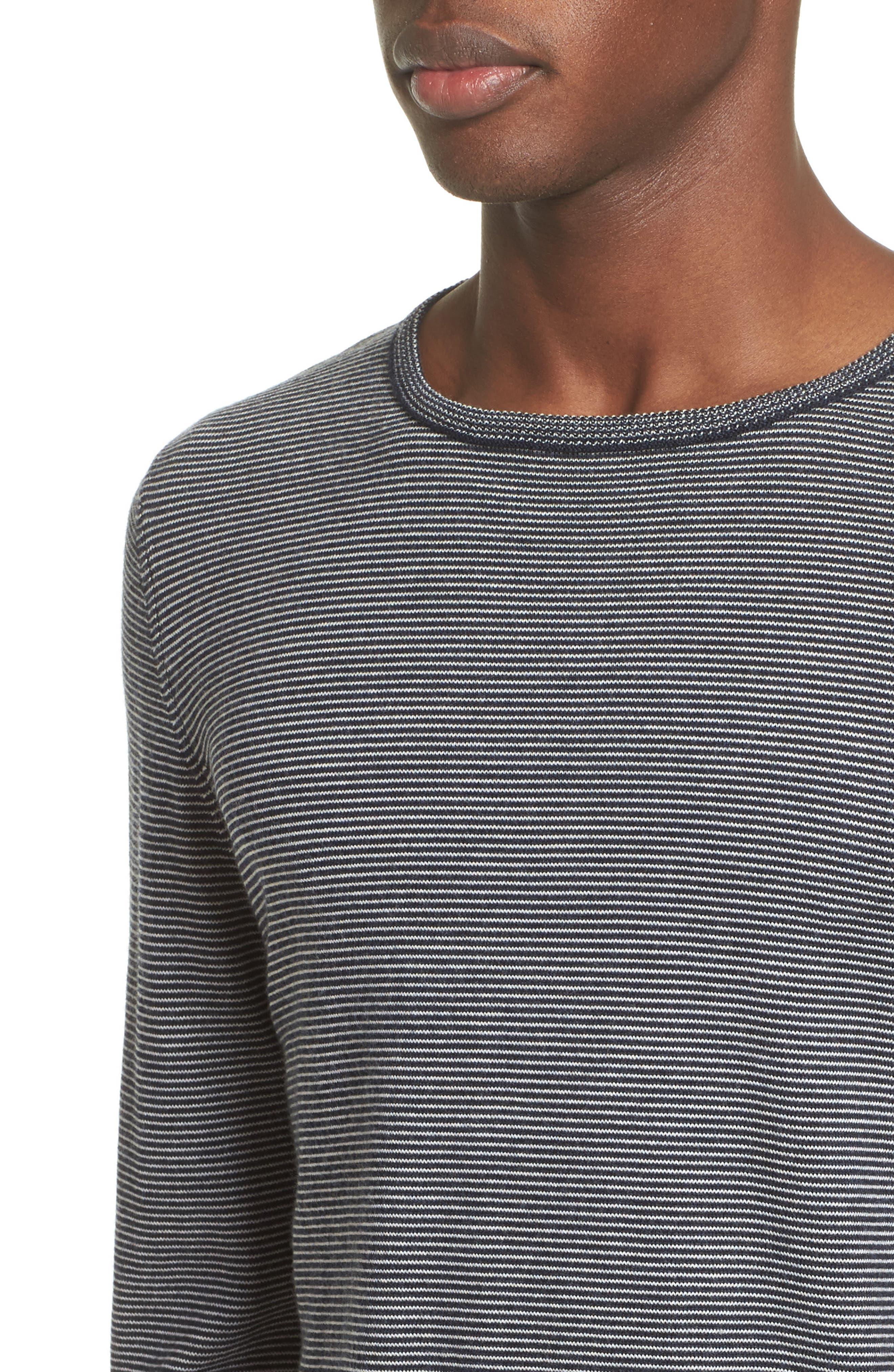 Alternate Image 4  - A.P.C. Toby Pinstripe Sweater