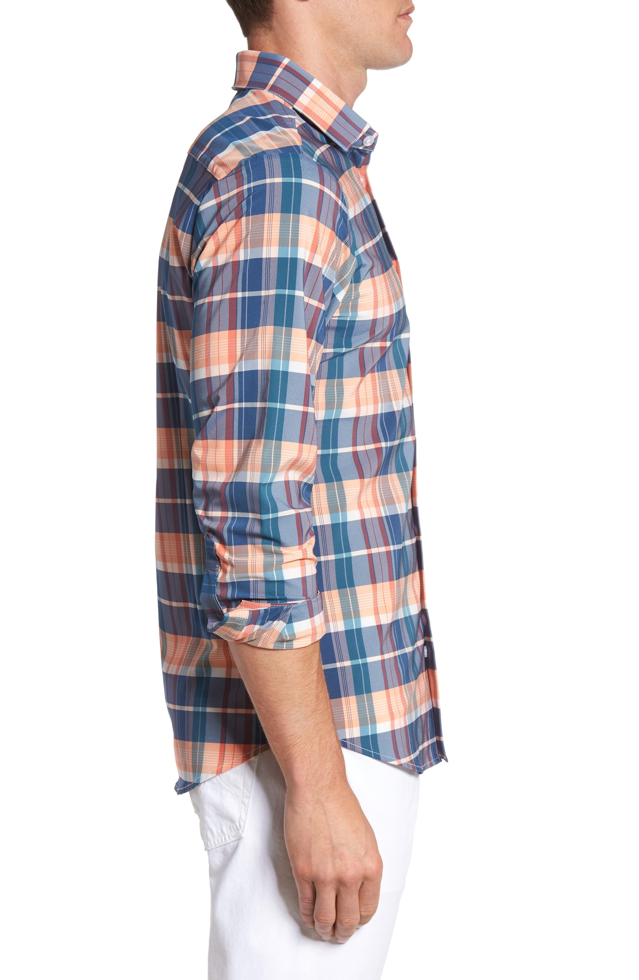 Alternate Image 3  - Mizzen+Main Potomac Madras Performance Sport Shirt (Regular & Tall)
