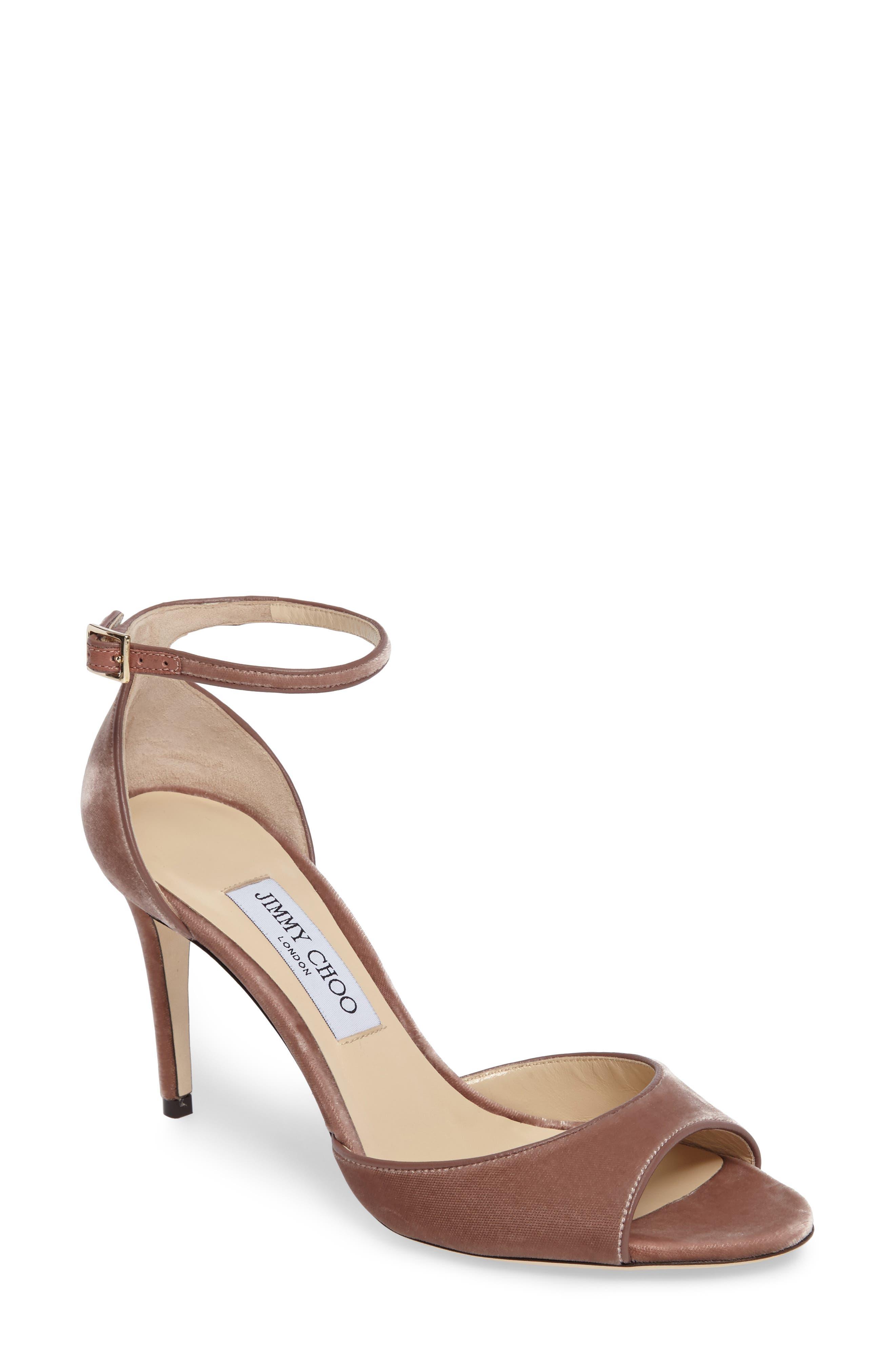 Alternate Image 1 Selected - Jimmy Choo Annie Ankle Strap Sandal (Women)