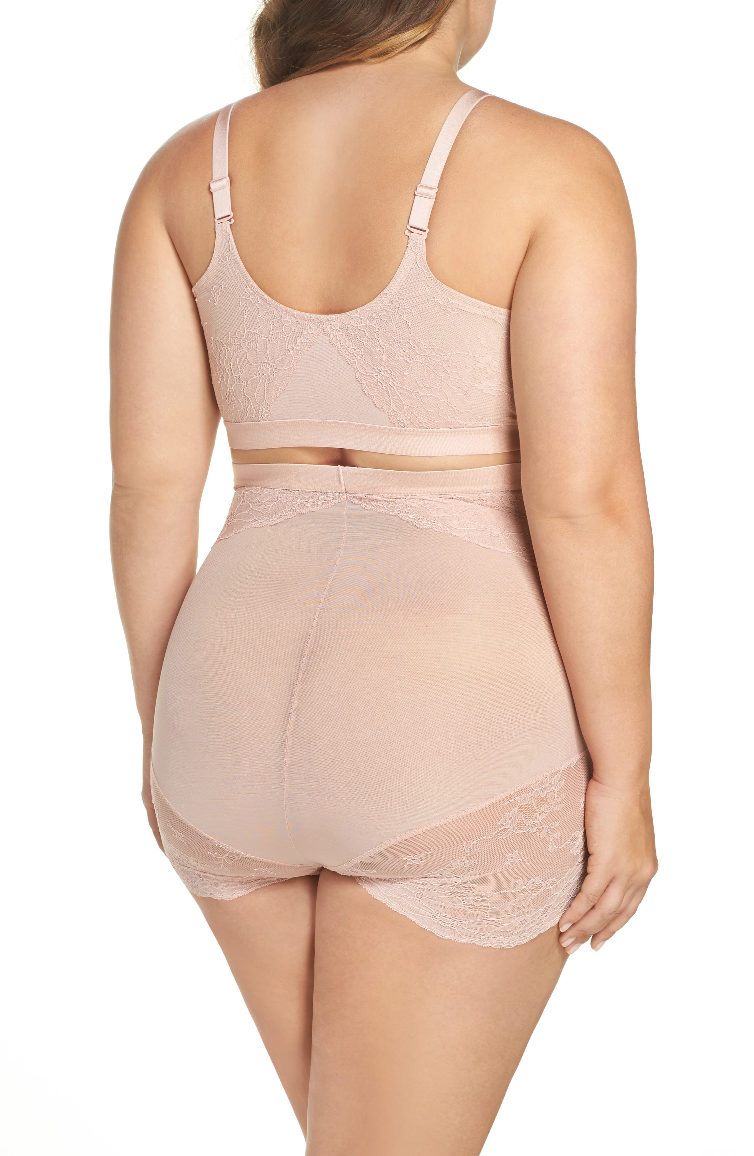 Alternate Image 5  - SPANX® Spotlight On Lace High Waist Briefs (Plus Size)