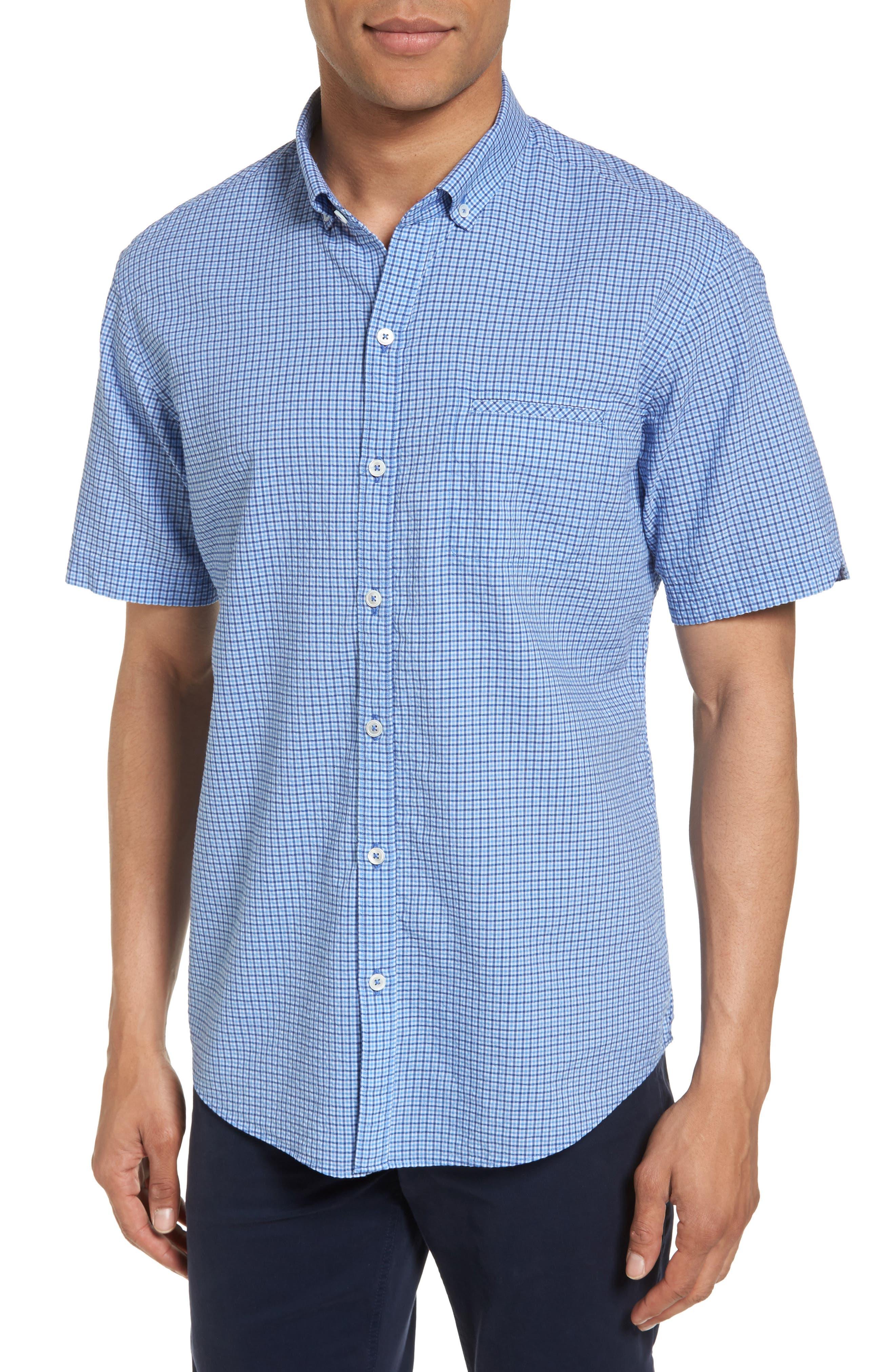 Short Sleeve Sport Shirt,                         Main,                         color, Teal