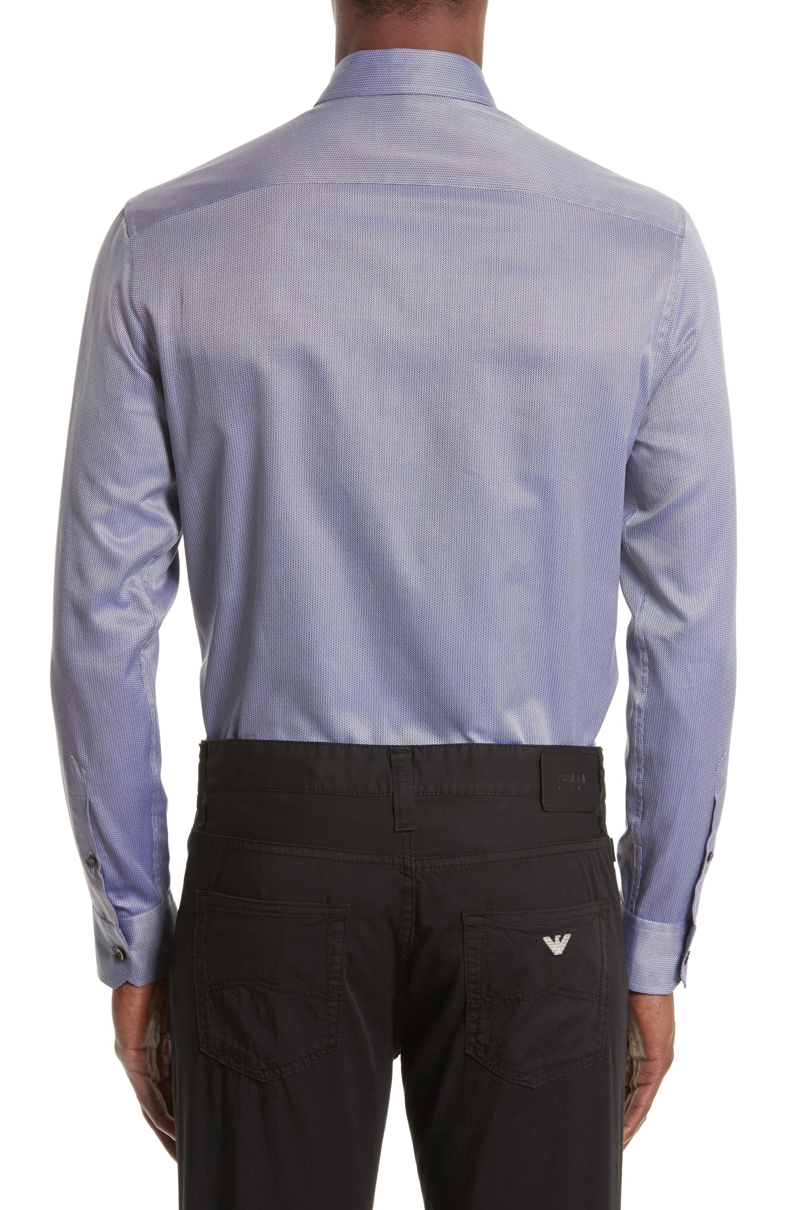 Regular Fit Print Sport Shirt,                             Alternate thumbnail 2, color,                             Fancy Blue Tone