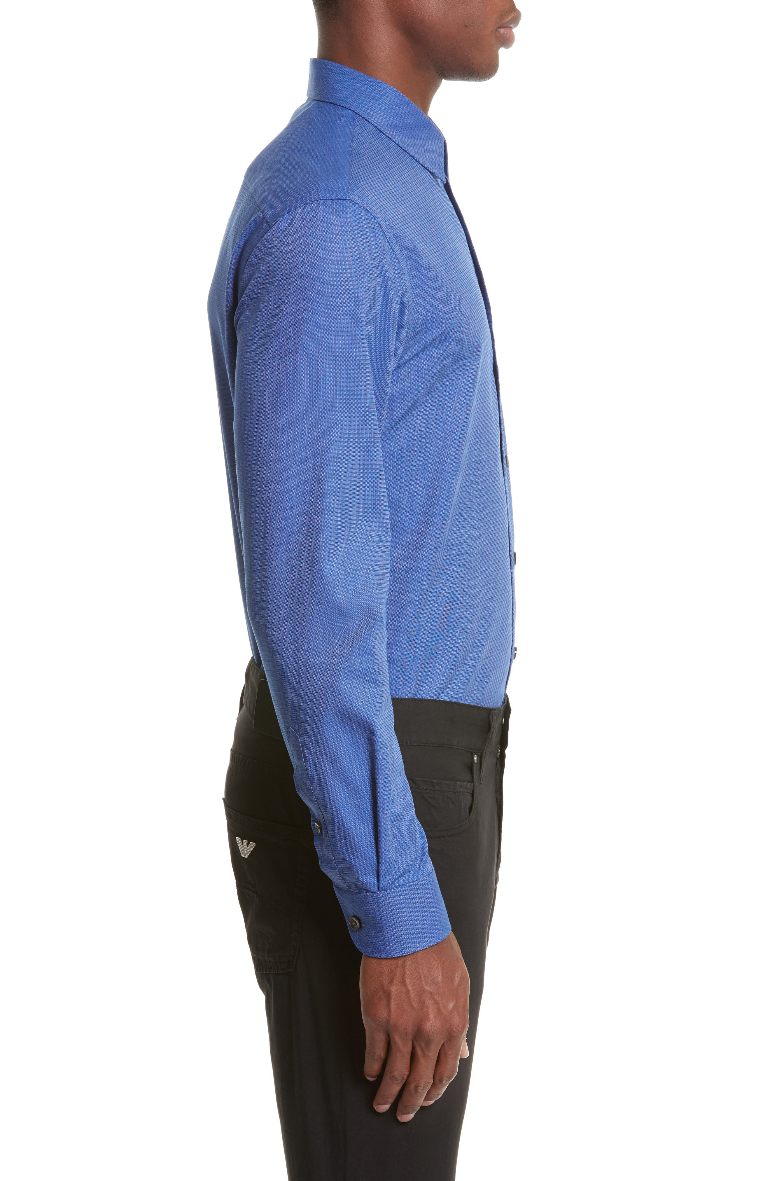 Alternate Image 4  - Armani Collezioni Regular Fit Woven Sport Shirt