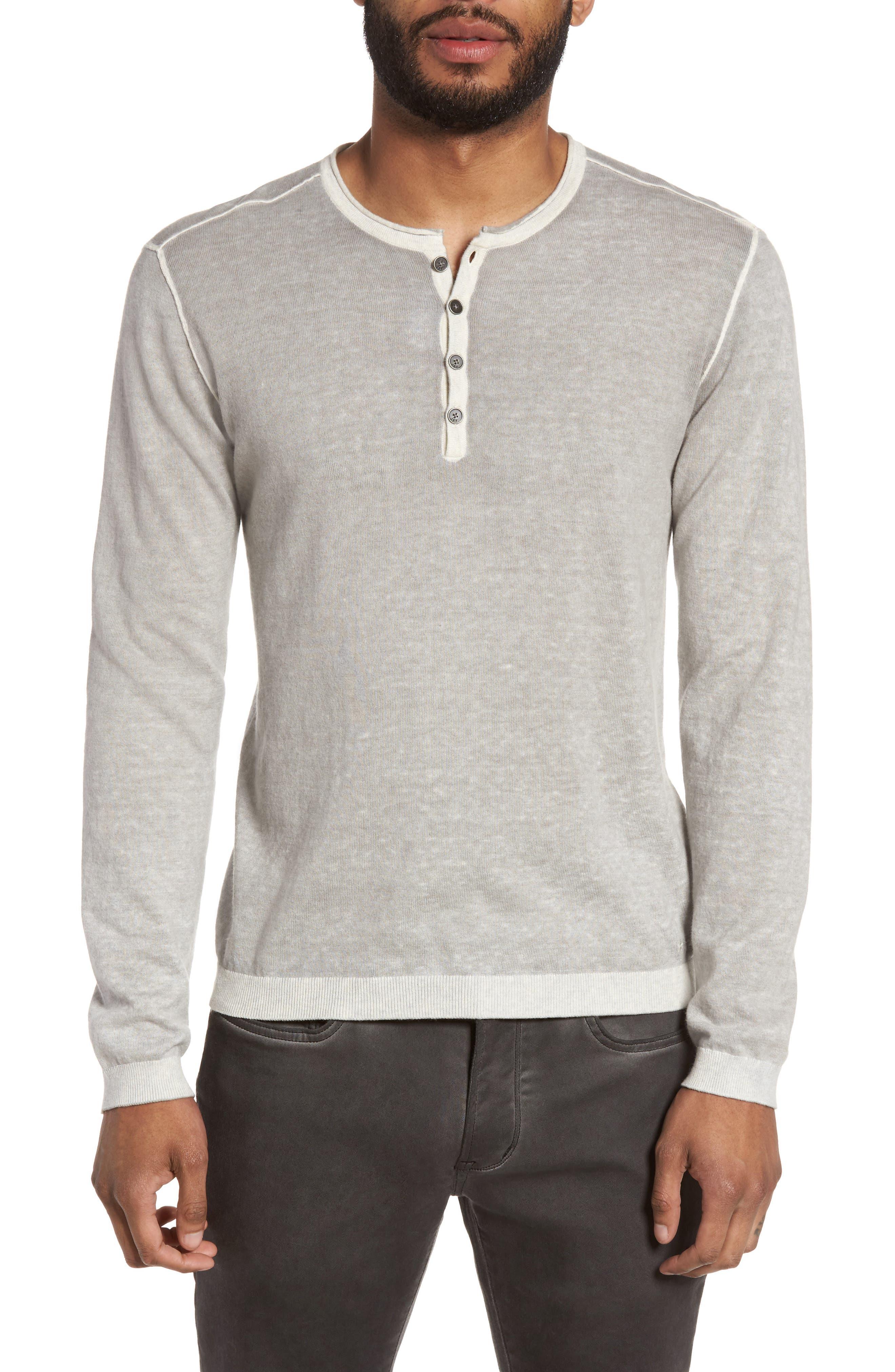 Henley Sweater,                         Main,                         color, Milk