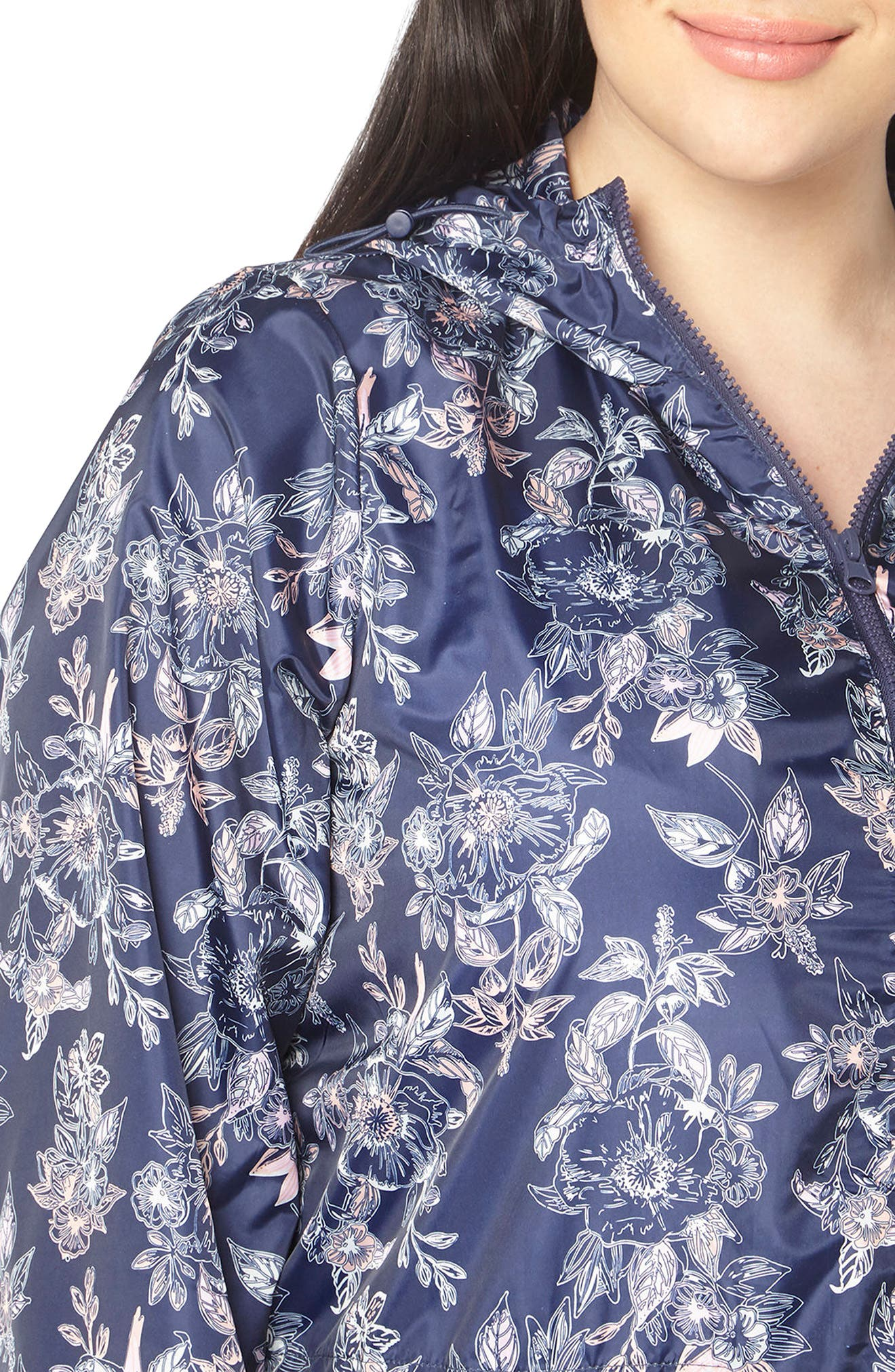 Alternate Image 3  - Evans Floral Print Rain Jacket