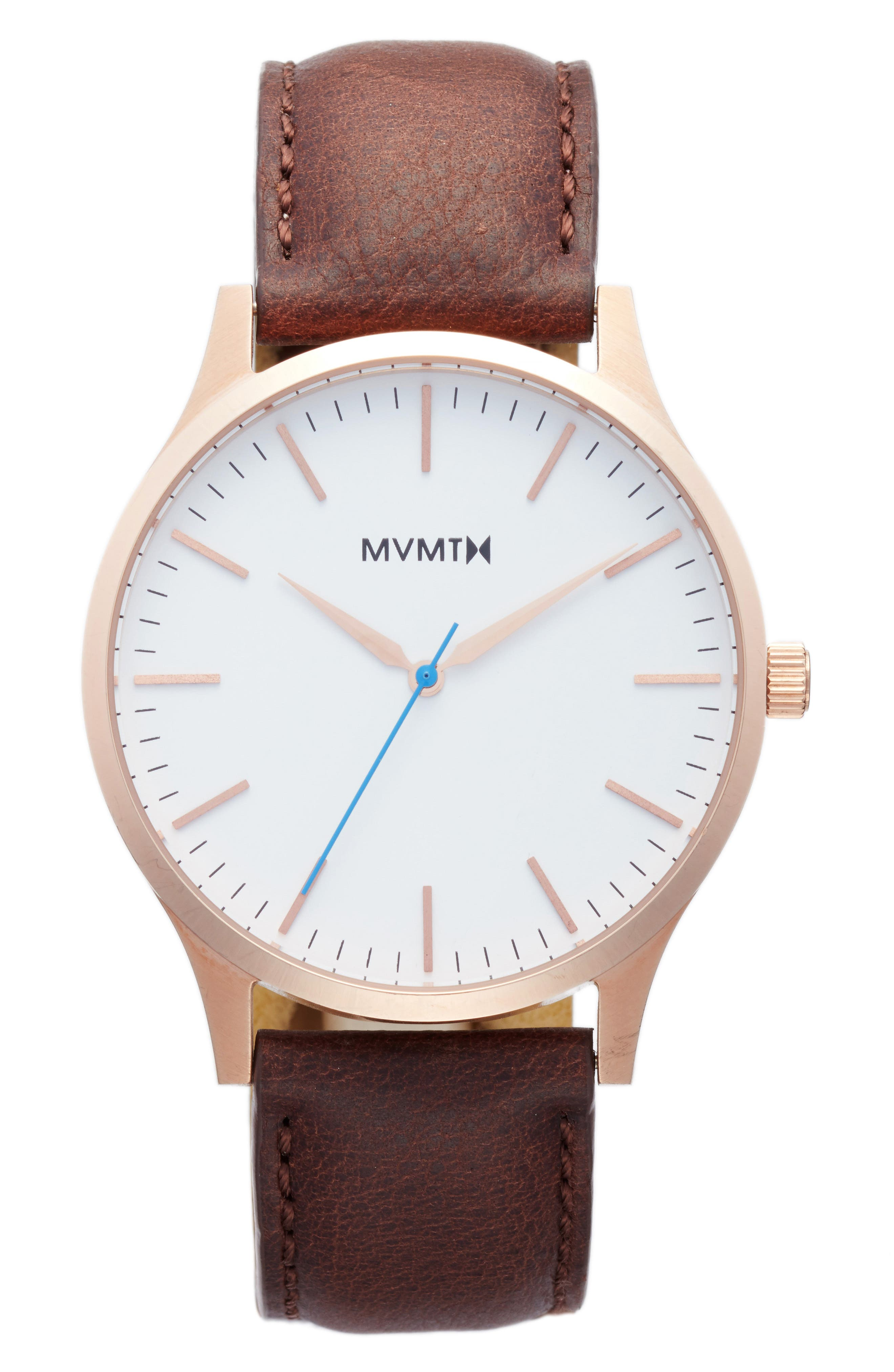 MVMT The 40 Leather Strap Watch, 40mm (Nordstrom Exclusive)