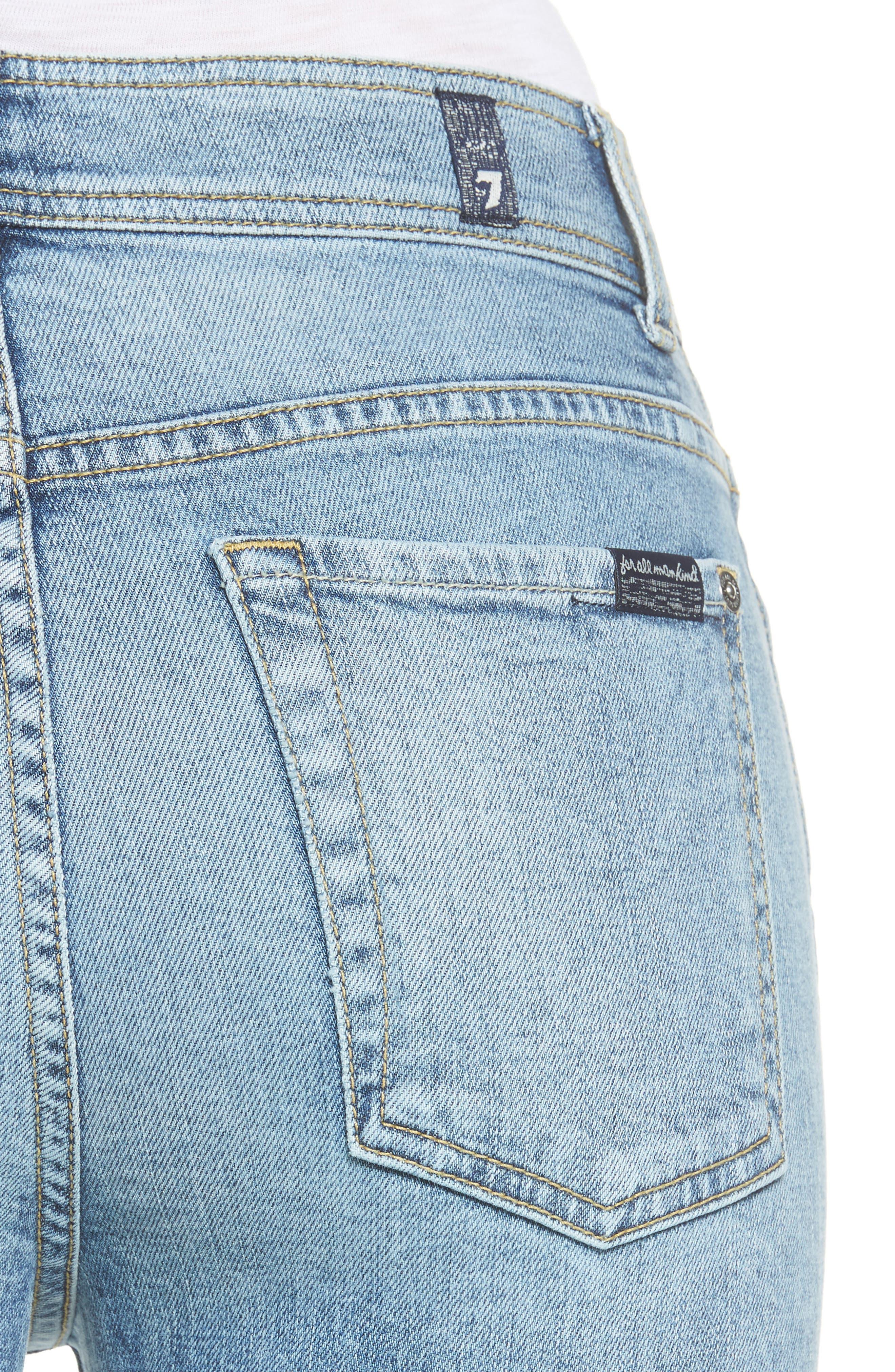 Alternate Image 4  - 7 For All Mankind® Release Hem Ankle Skinny Jeans (Rockaway Beach)
