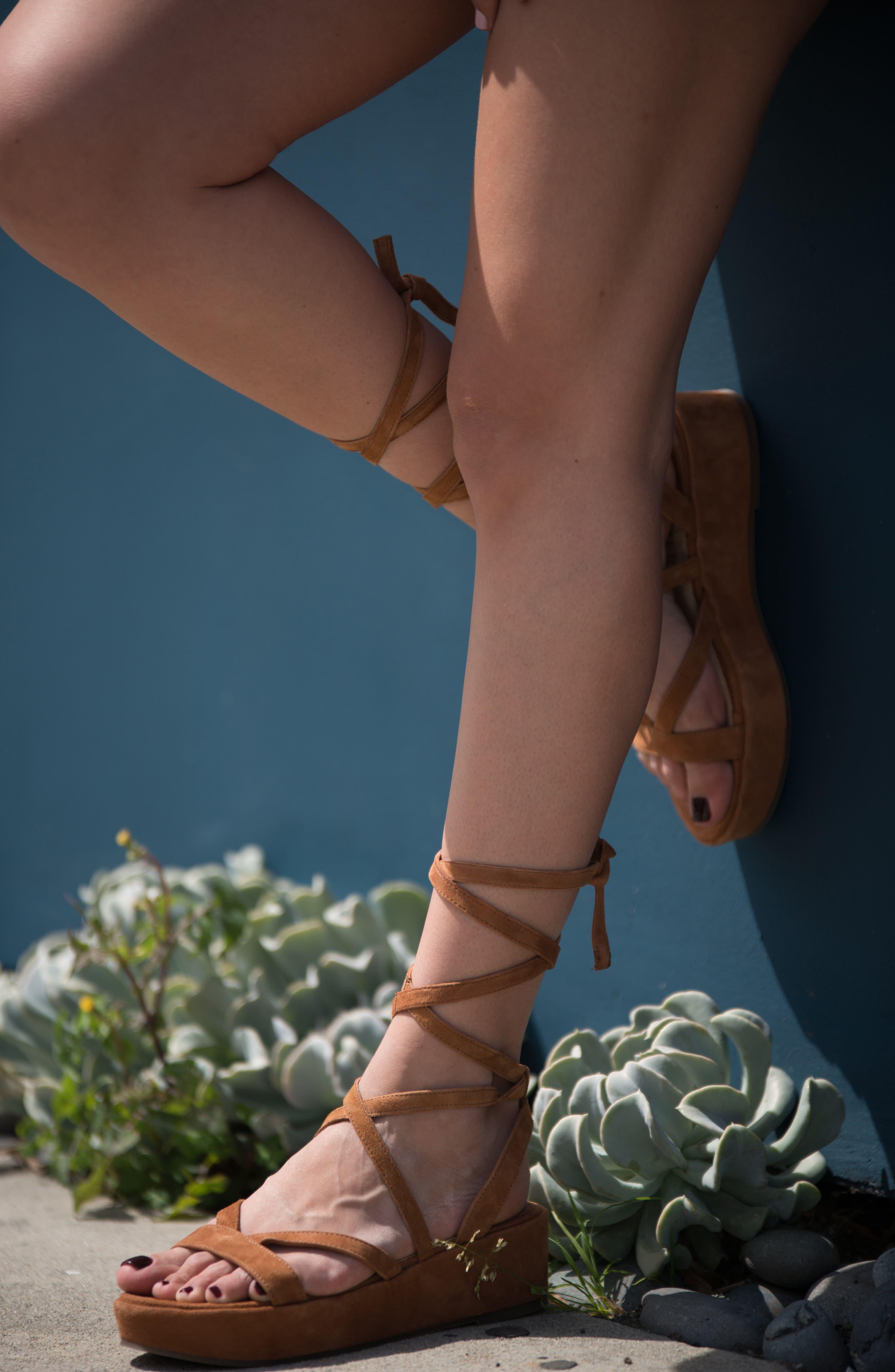 Keri Gladiator Platform Sandal,                             Alternate thumbnail 8, color,