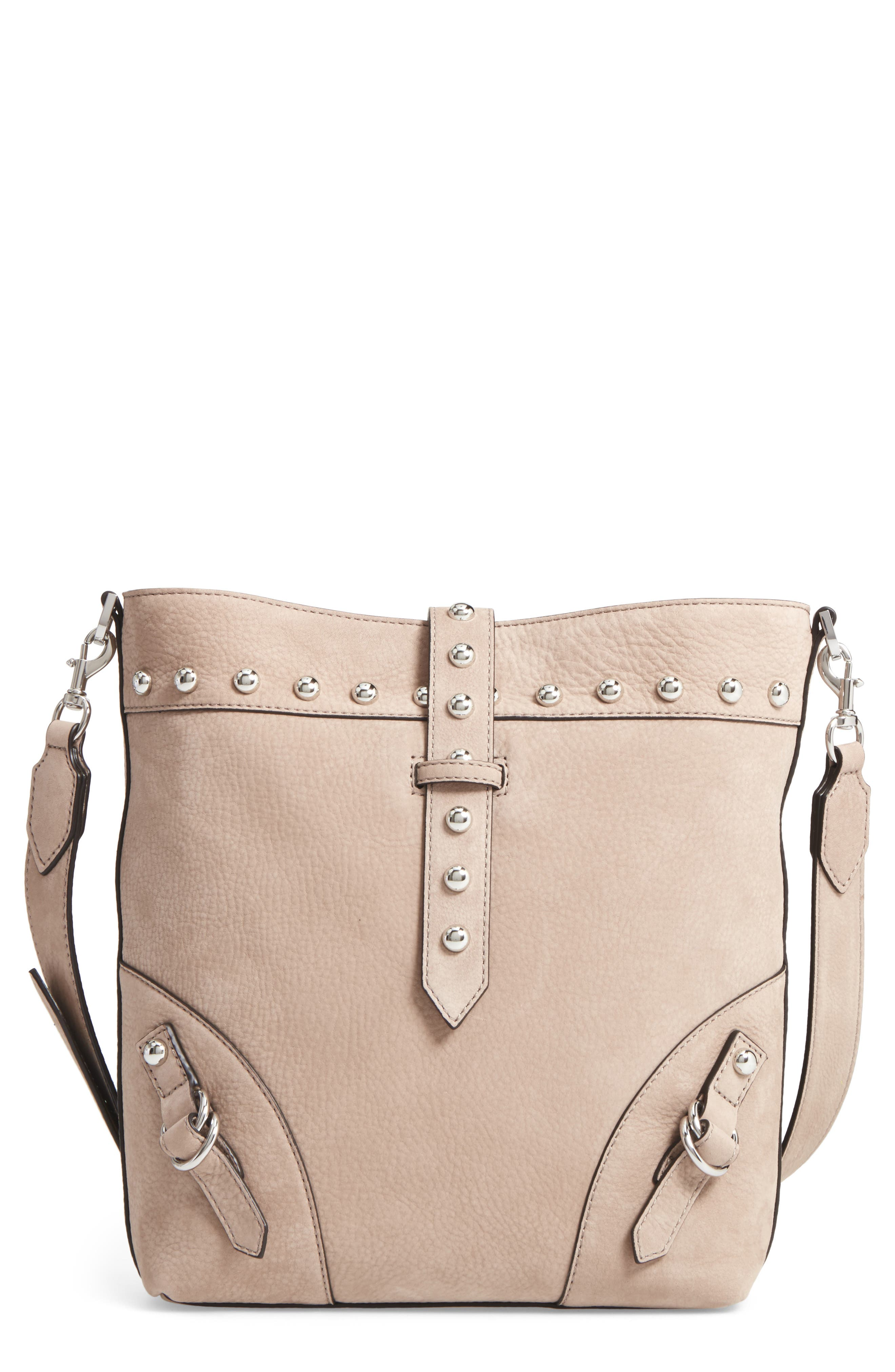 Rose Leather Bucket Bag,                             Main thumbnail 1, color,                             Sandstone