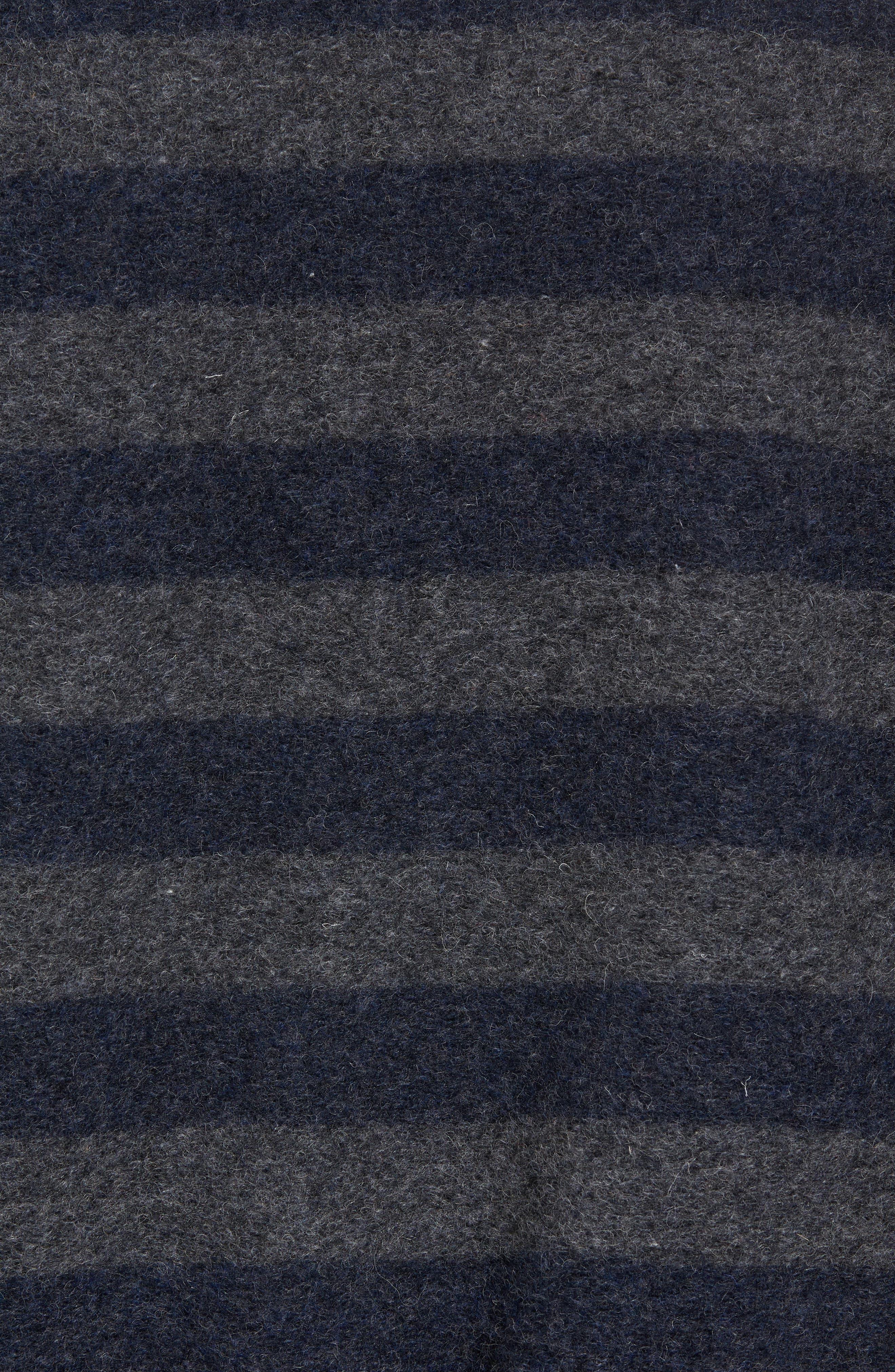 Bowen Stripe Zip Front Jacket,                             Alternate thumbnail 5, color,                             Grey Navy Stripe