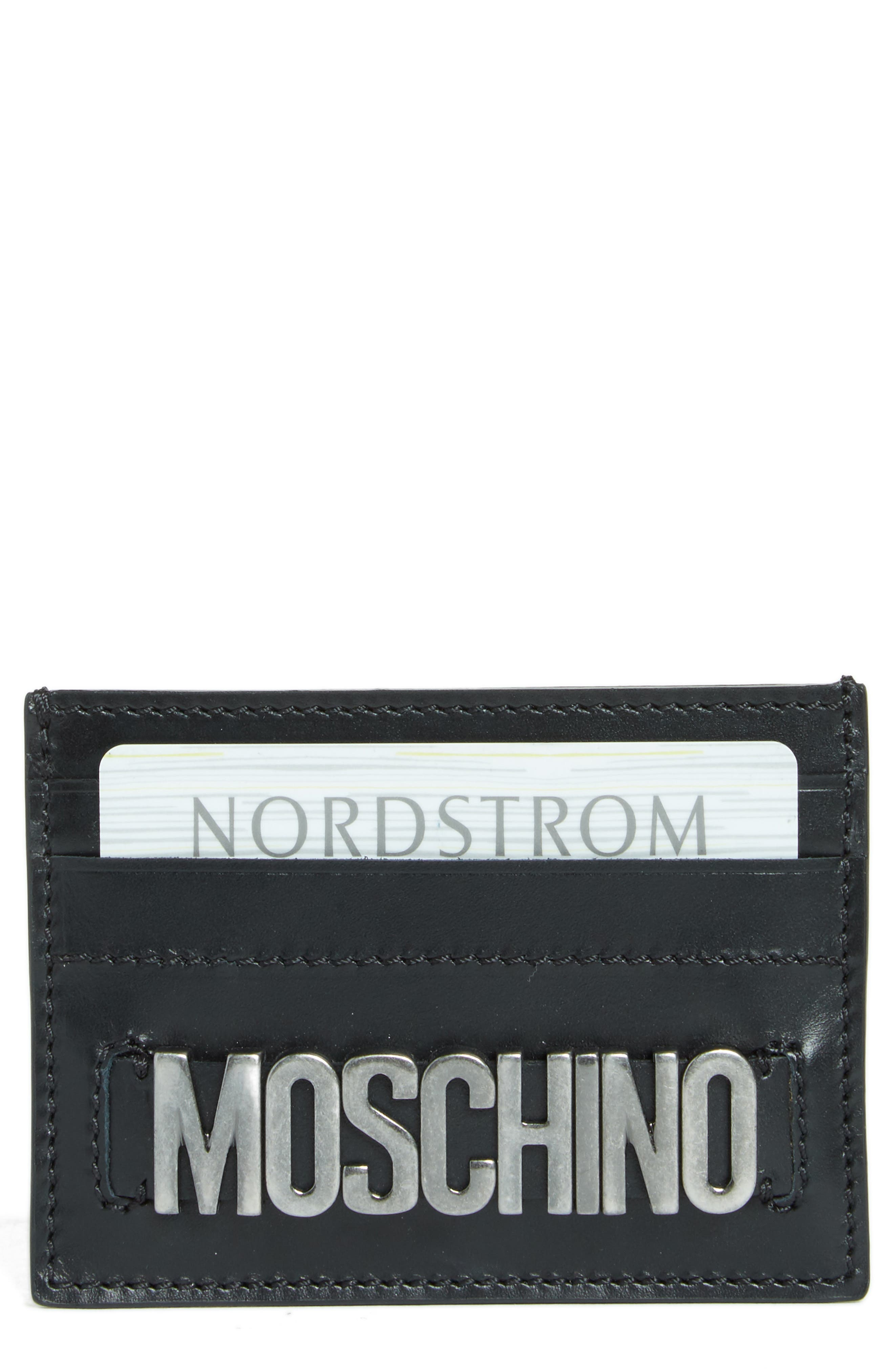 Alternate Image 1 Selected - Moschino Letters Card Case