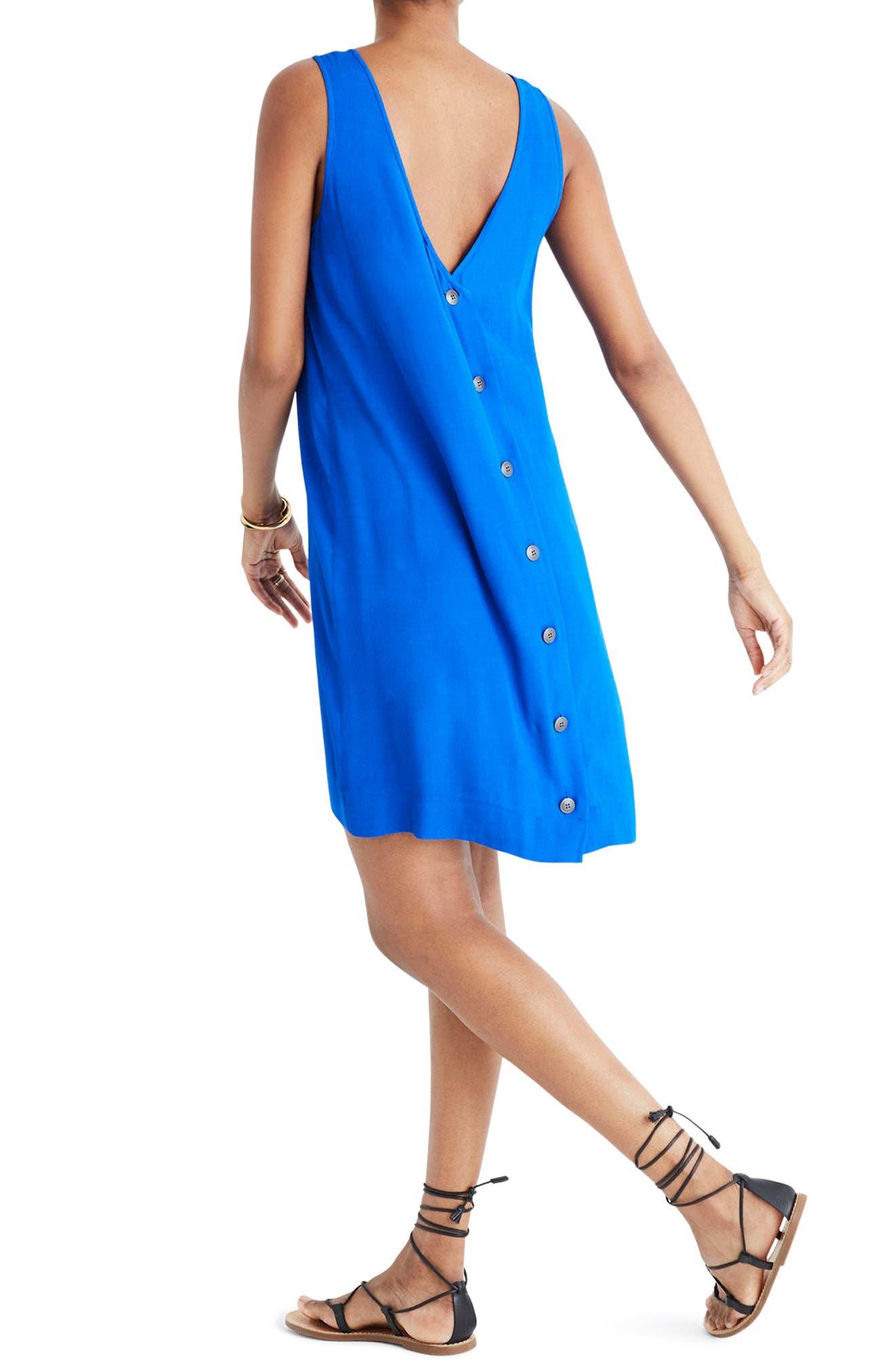 Lakeshore Button Back Dress,                             Alternate thumbnail 2, color,                             Brilliant Royal