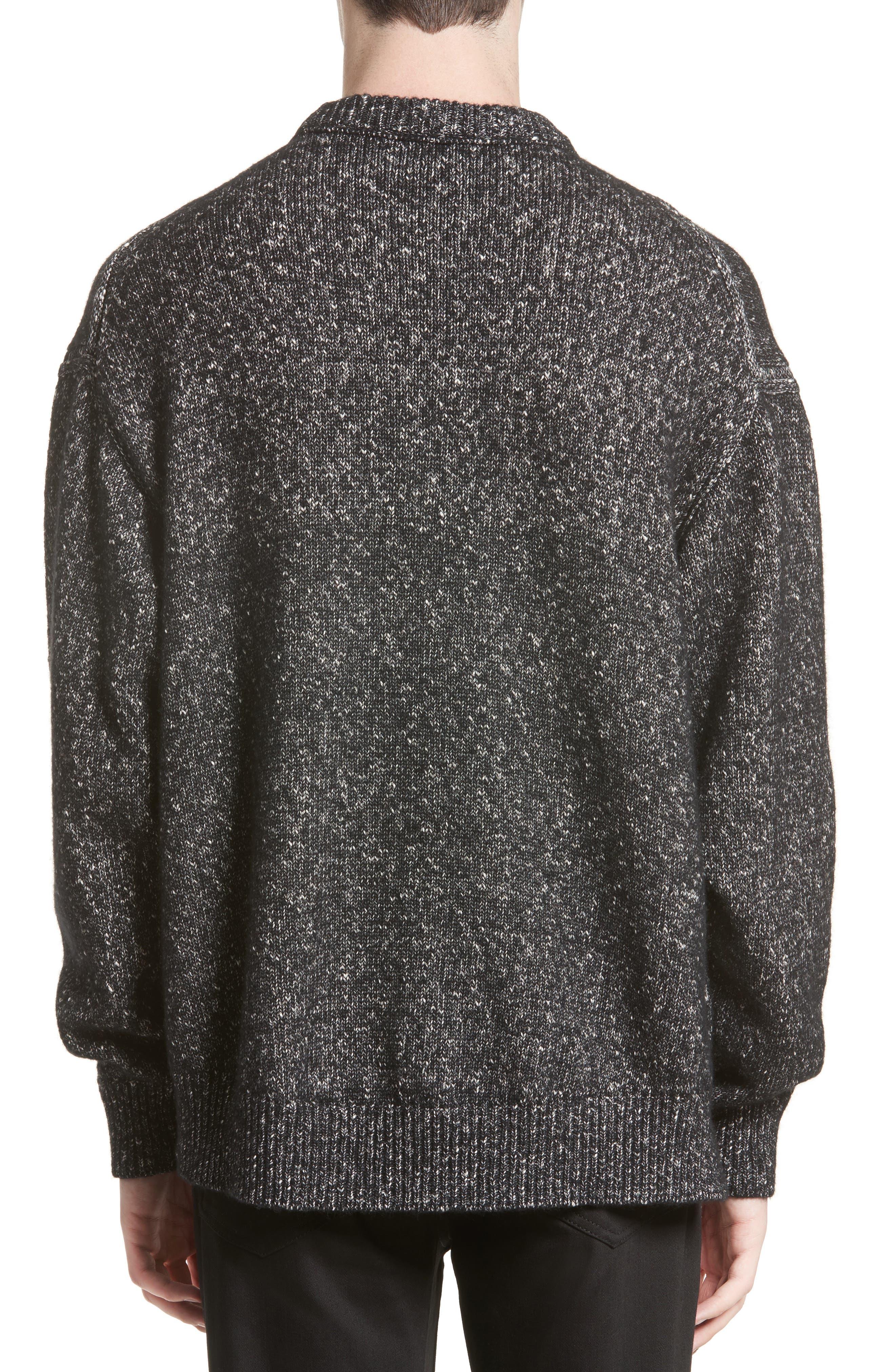 Nole Mélange Sweater,                             Alternate thumbnail 2, color,                             Black