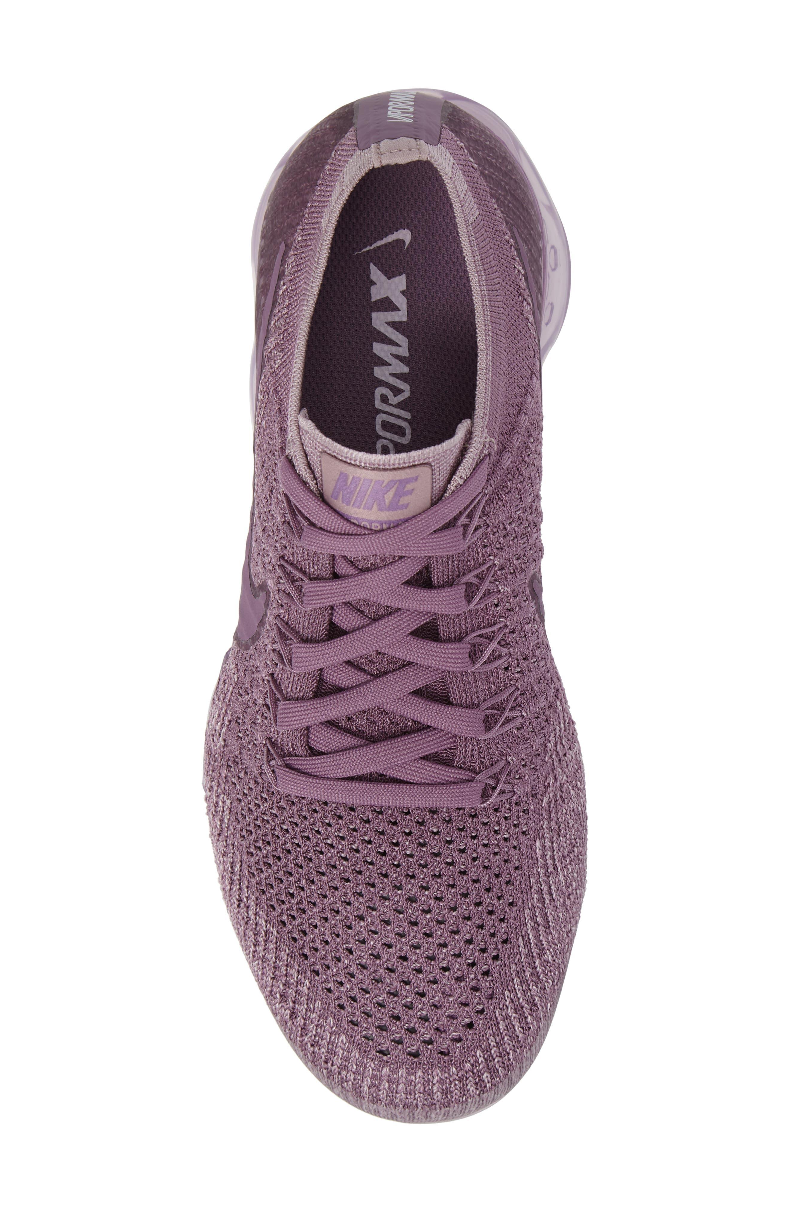 Air VaporMax Flyknit Running Shoe,                             Alternate thumbnail 5, color,                             Violet Dust/ Plum Fog