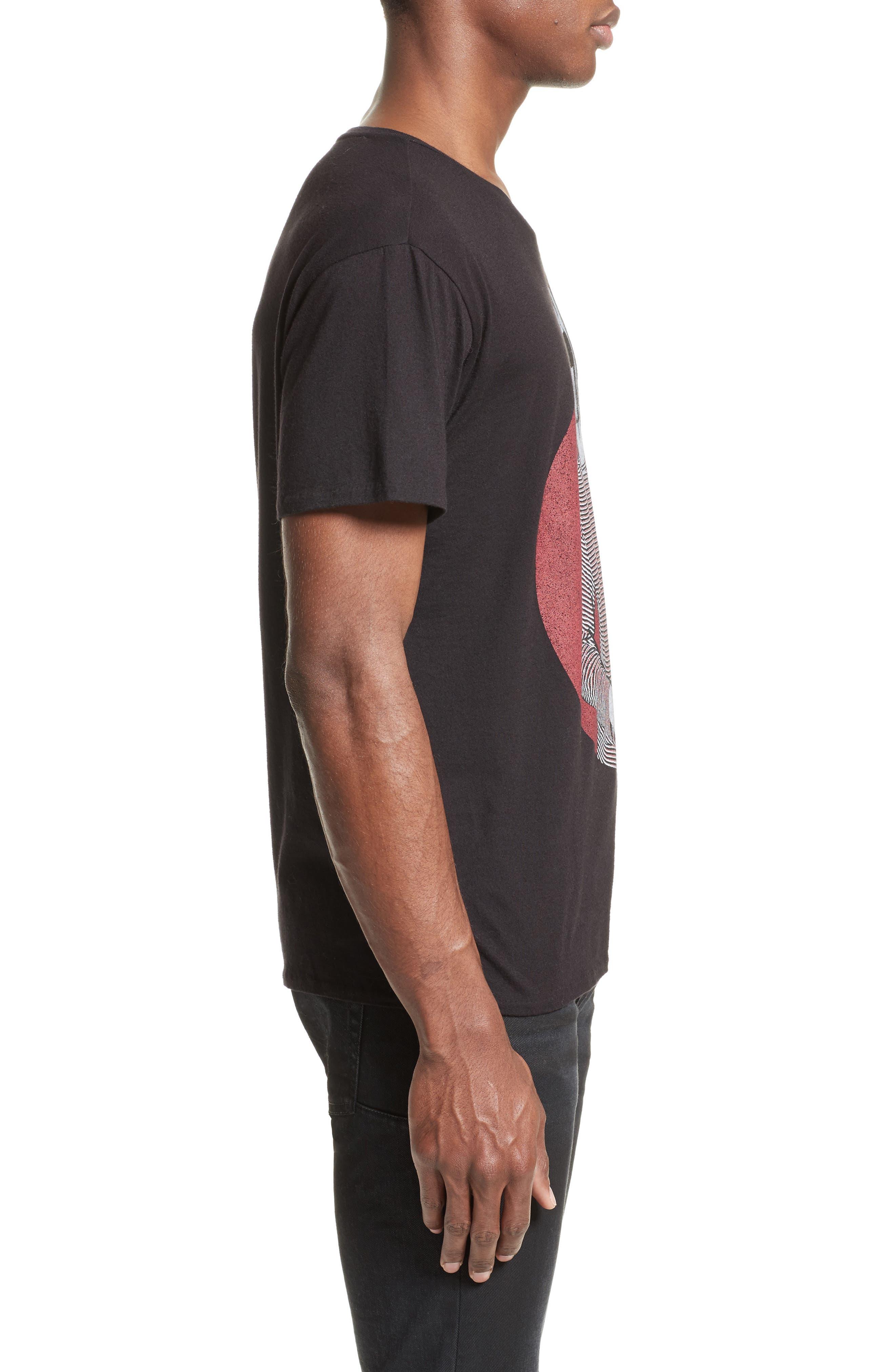 Kurt Graphic T-Shirt,                             Alternate thumbnail 3, color,                             Black