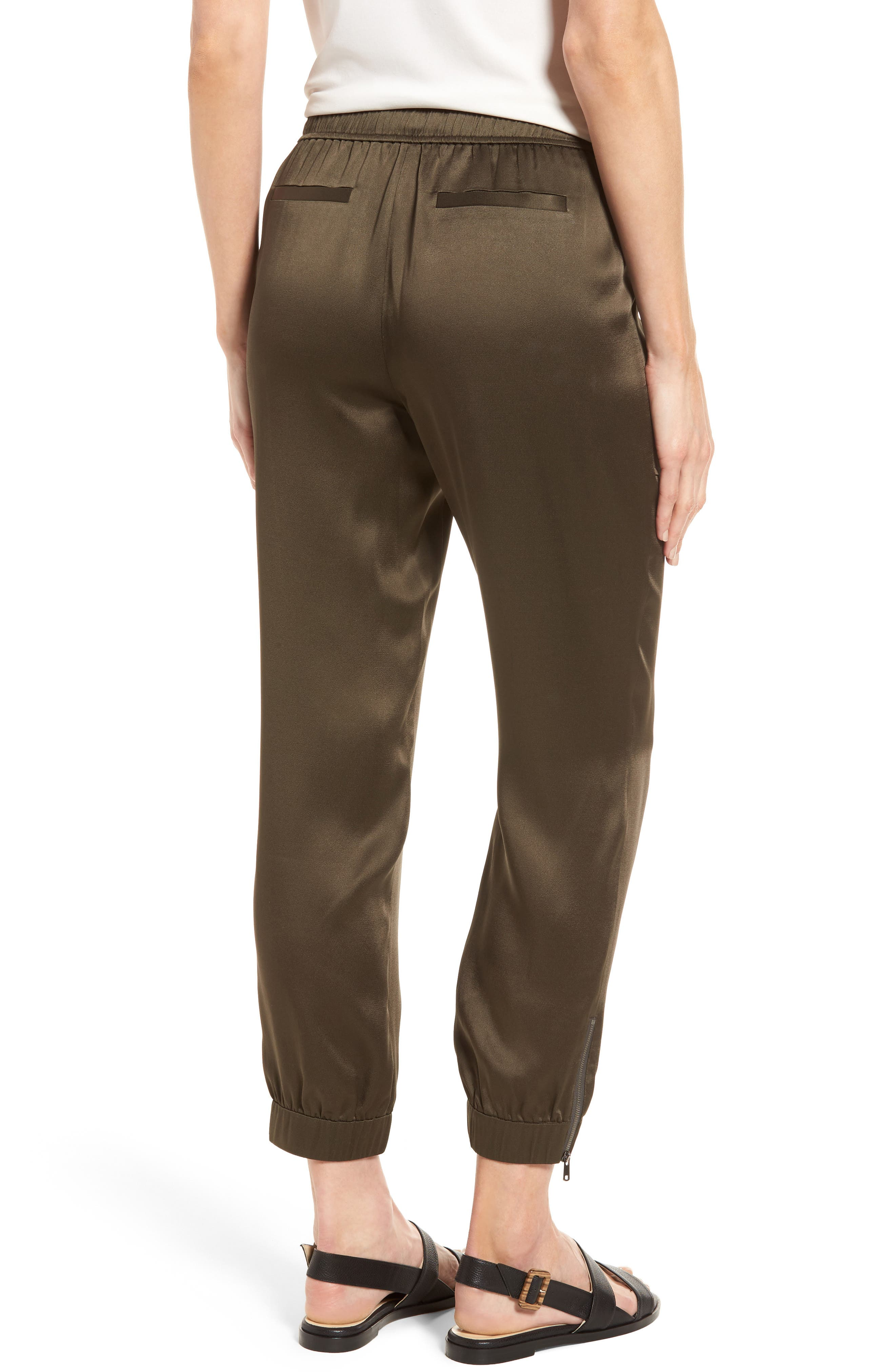 Alternate Image 2  - Nordstrom Signature Satin Jogger Pants