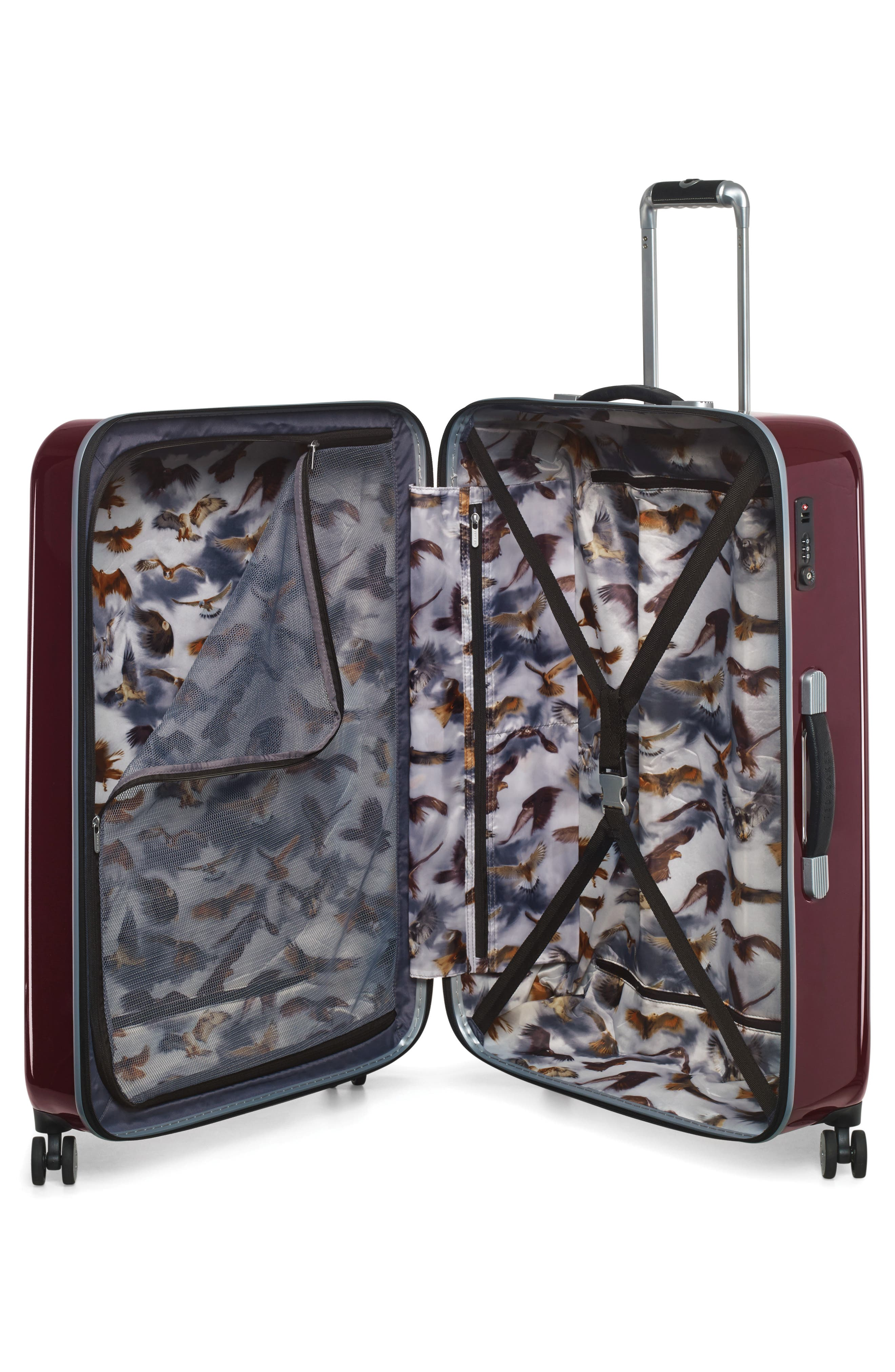 "Medium 28"" Hard Shell Spinner Suitcase,                             Alternate thumbnail 2, color,                             Burg-Graph"