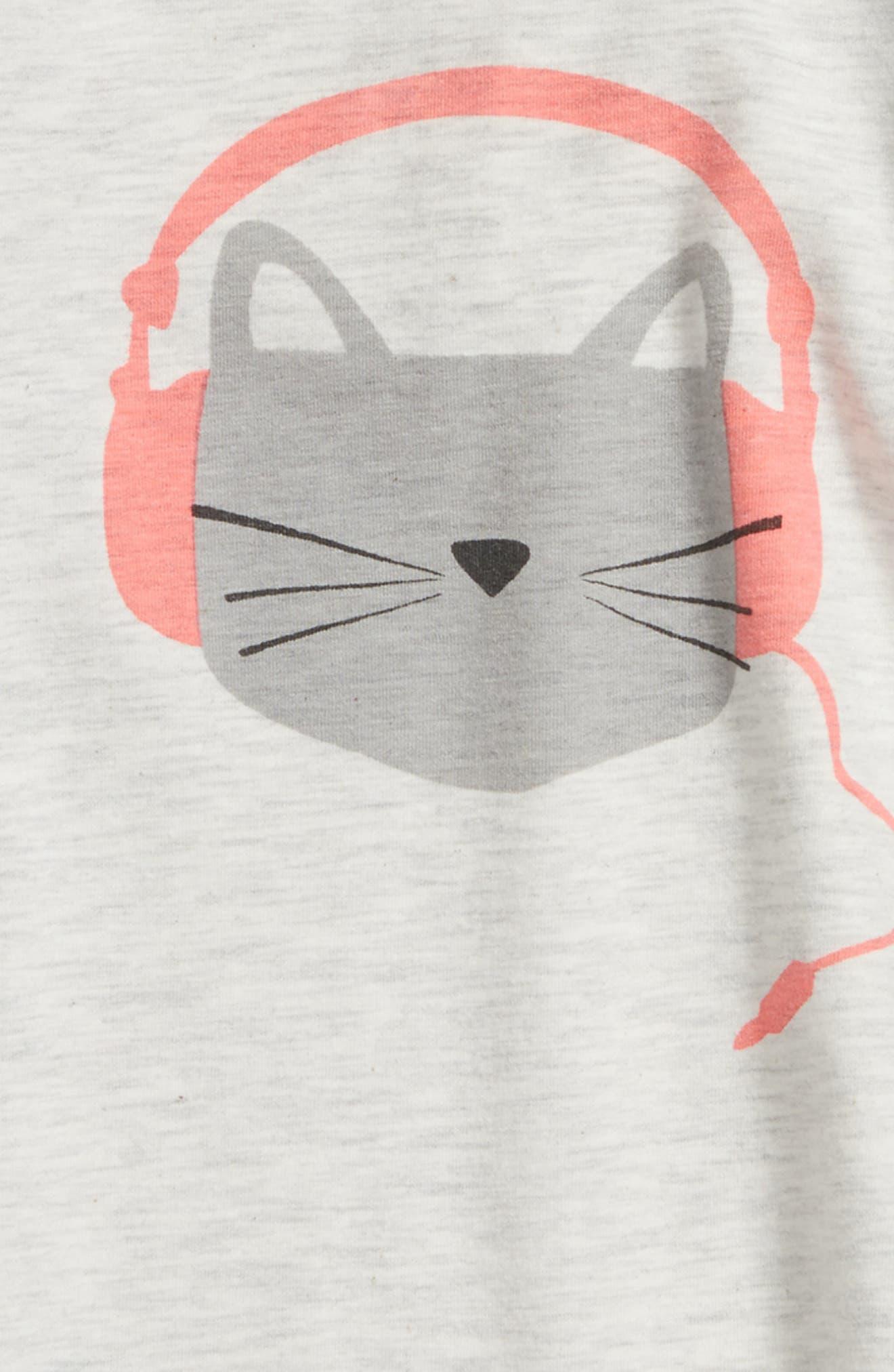 Alternate Image 2  - Tucker + Tate Cat Graphic Tee (Baby Girls)