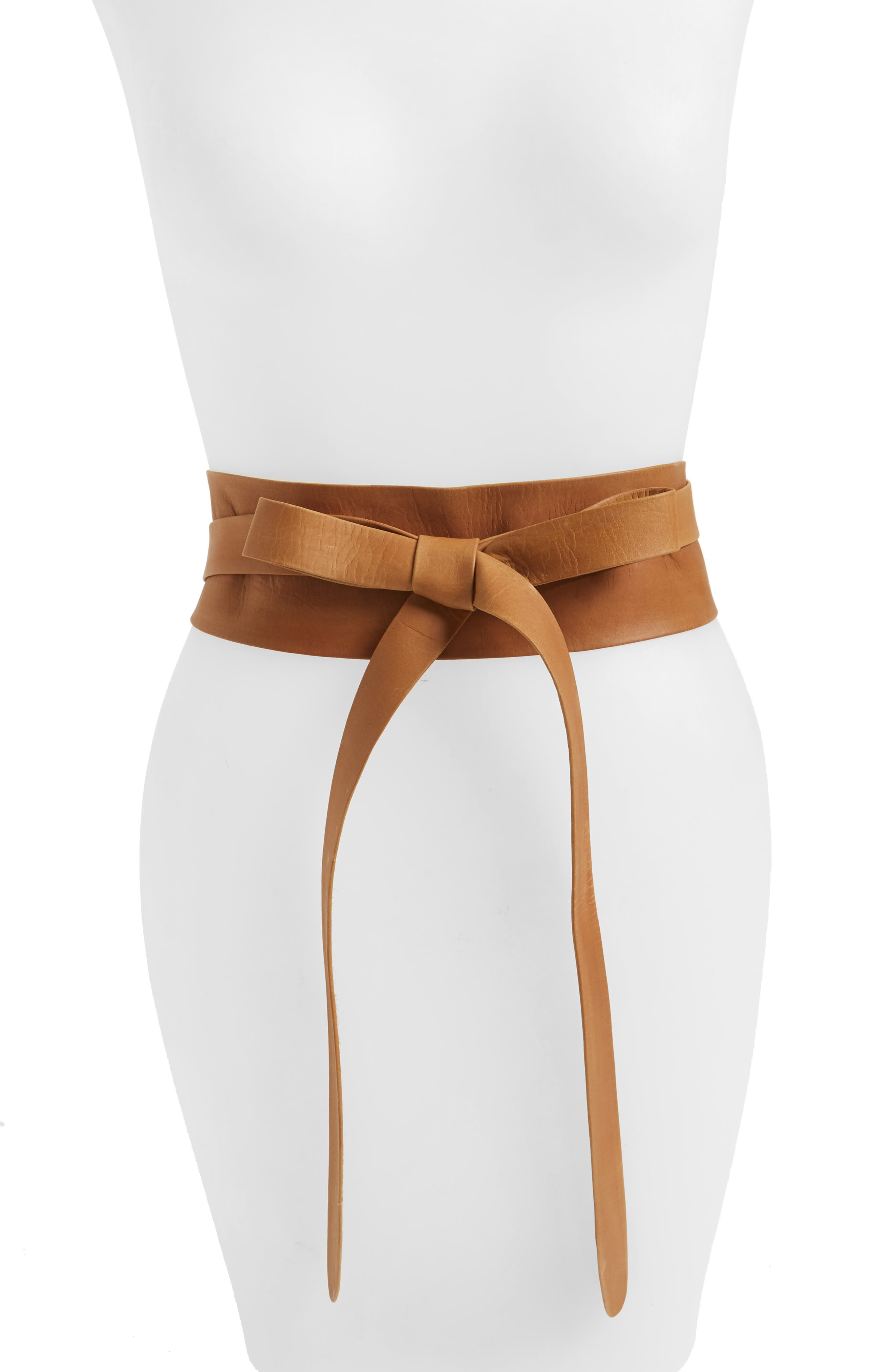 Handmade Leather Wrap Belt,                             Main thumbnail 1, color,                             Tan