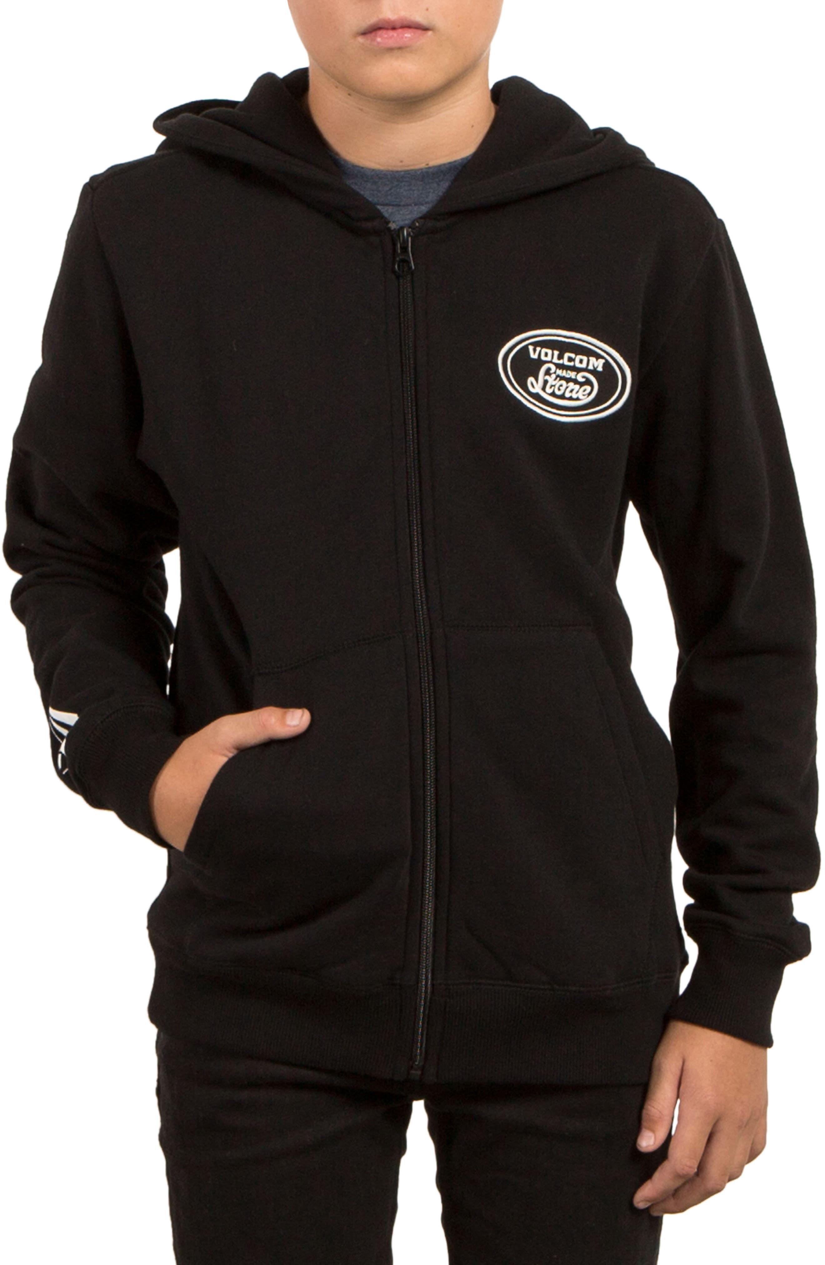 Supply Stone Zip Hoodie,                         Main,                         color, Black