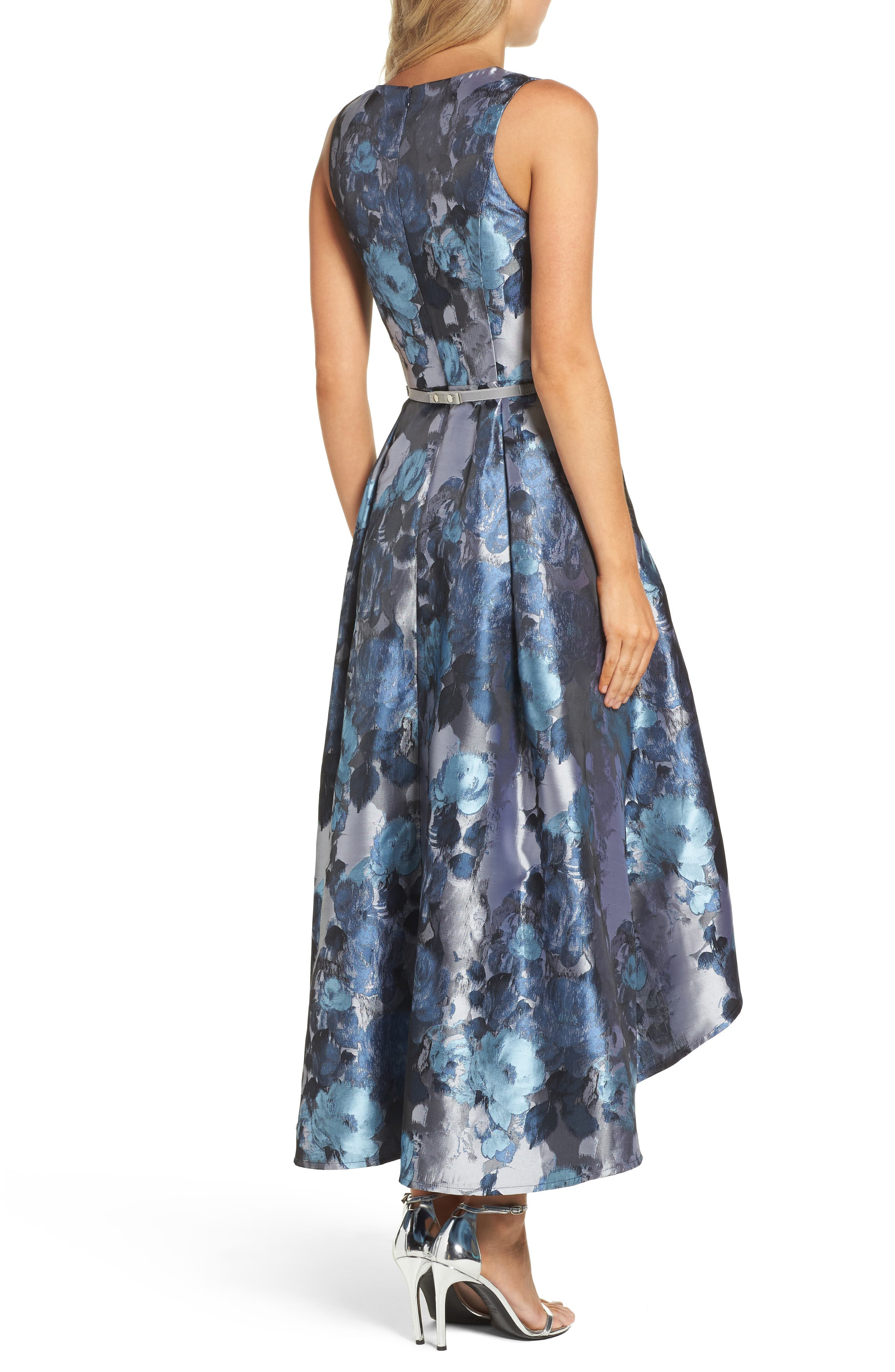 Alternate Image 2  - Eliza J Jacquard High/Low Dress