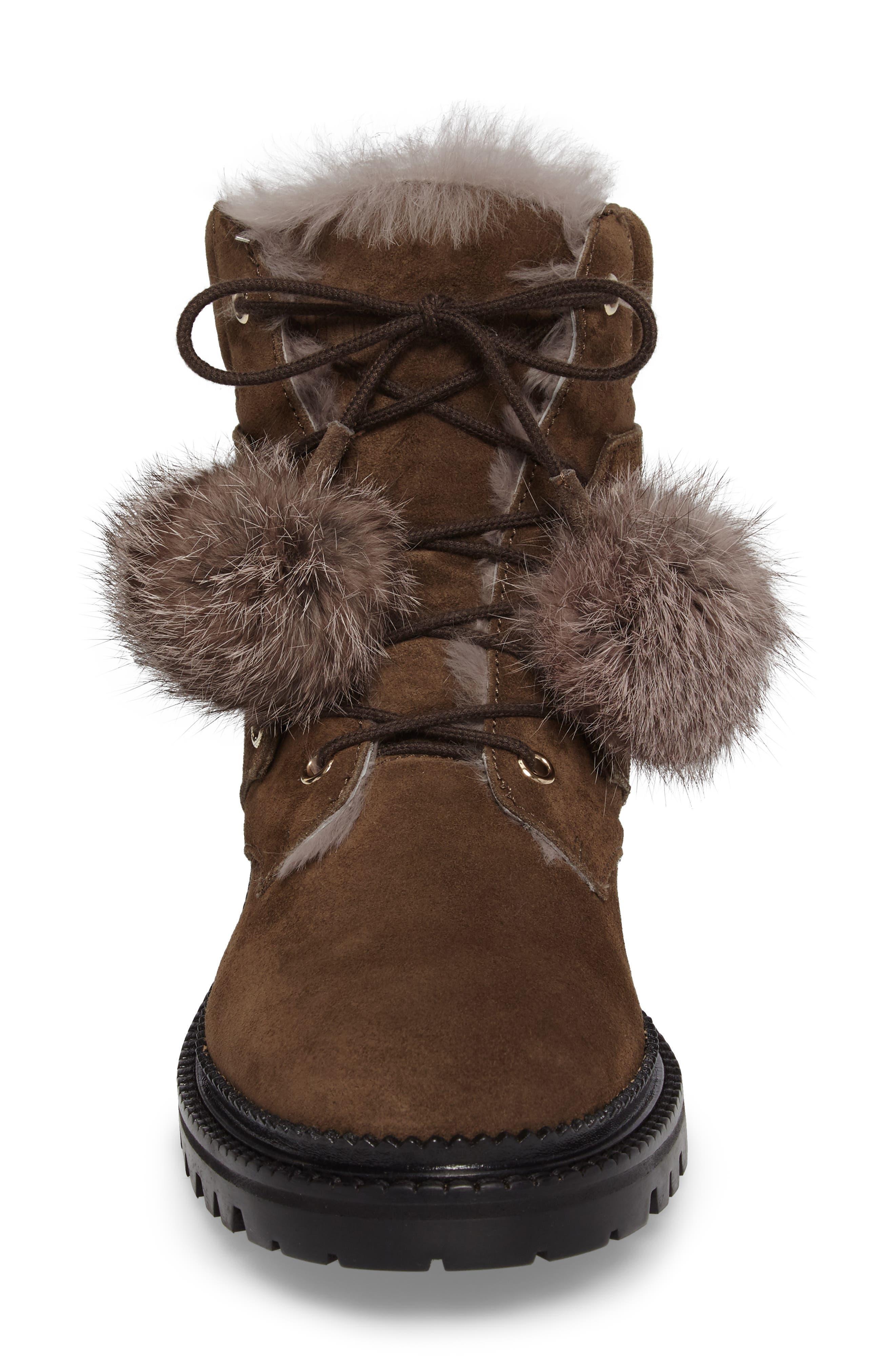 Alternate Image 4  - Jimmy Choo Elba Genuine Rabbit Fur Boot (Women)