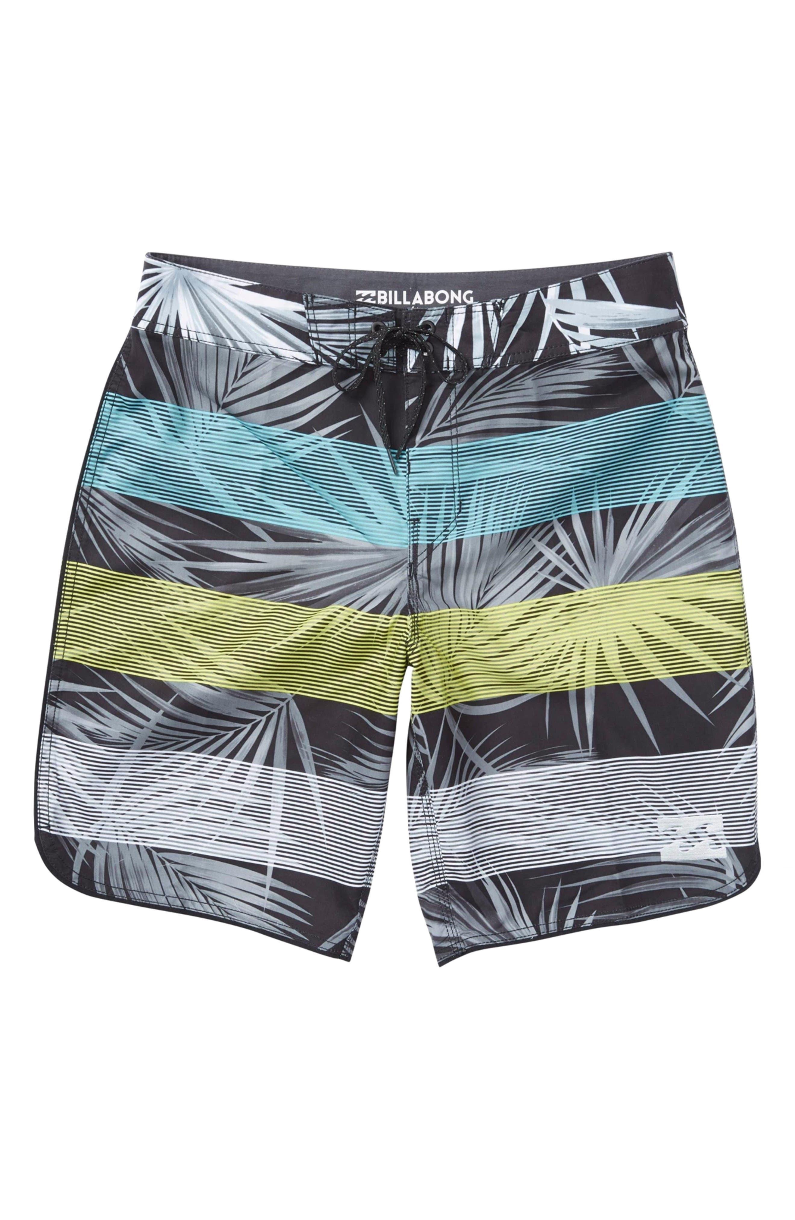 73 Stripe Board Shorts,                         Main,                         color, Black
