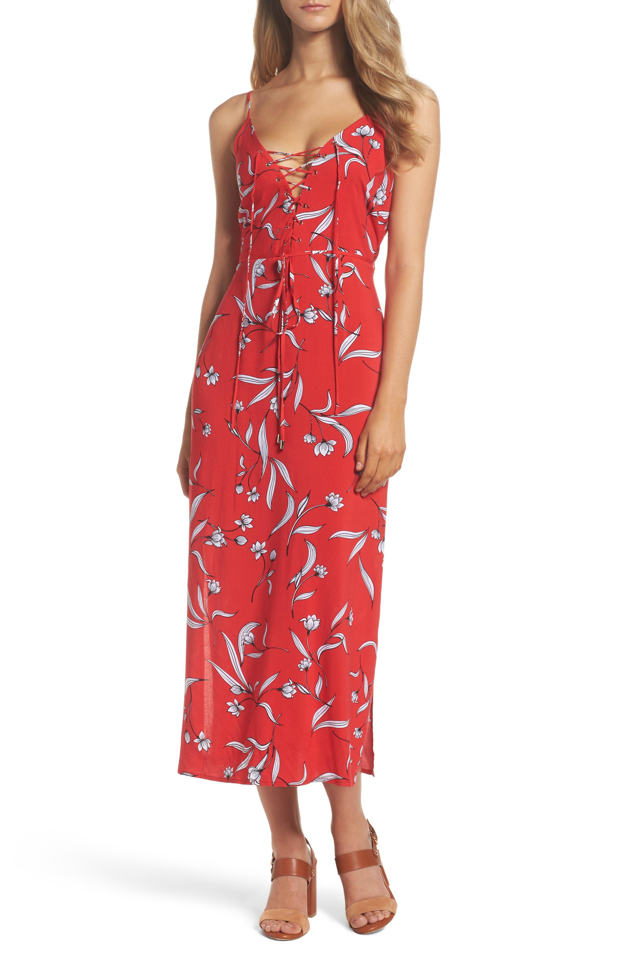 Amelia Floral Dress,                             Main thumbnail 1, color,                             Floral Print