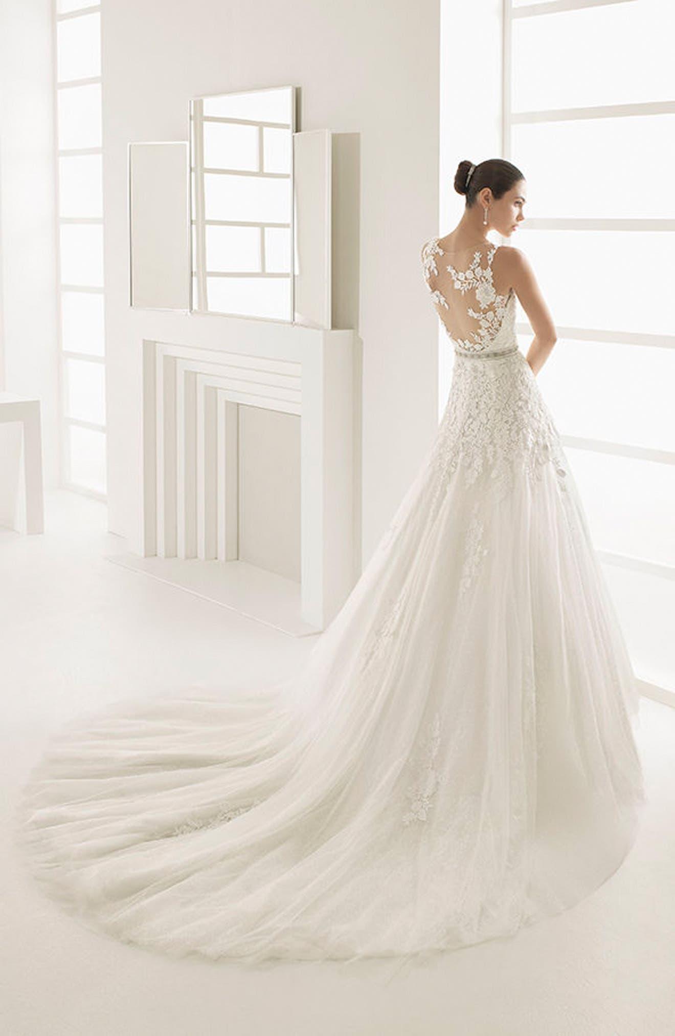 Alternate Image 2  - Rosa Clara Oda Sleeveless Lace & Tulle Gown