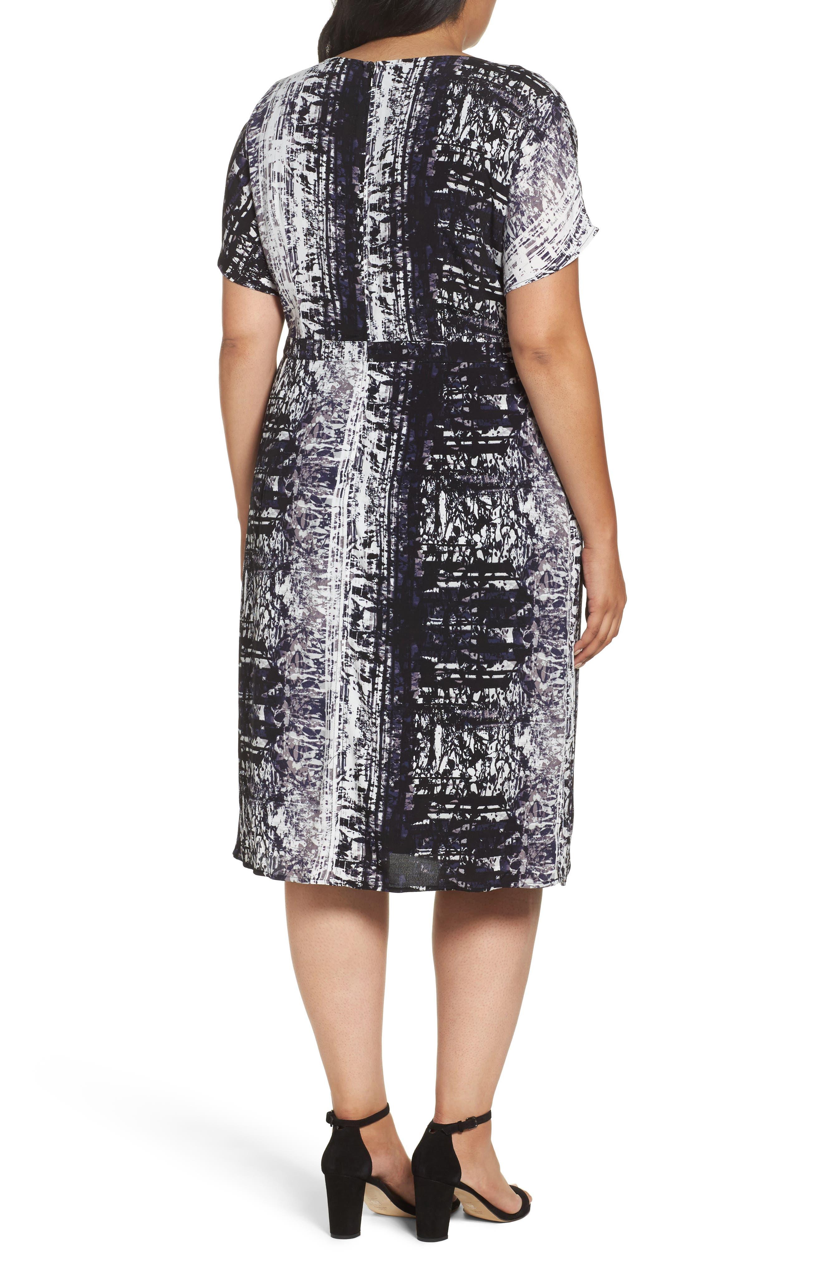 Alternate Image 2  - Sejour Dolman Sleeve Shift Dress (Plus Size)