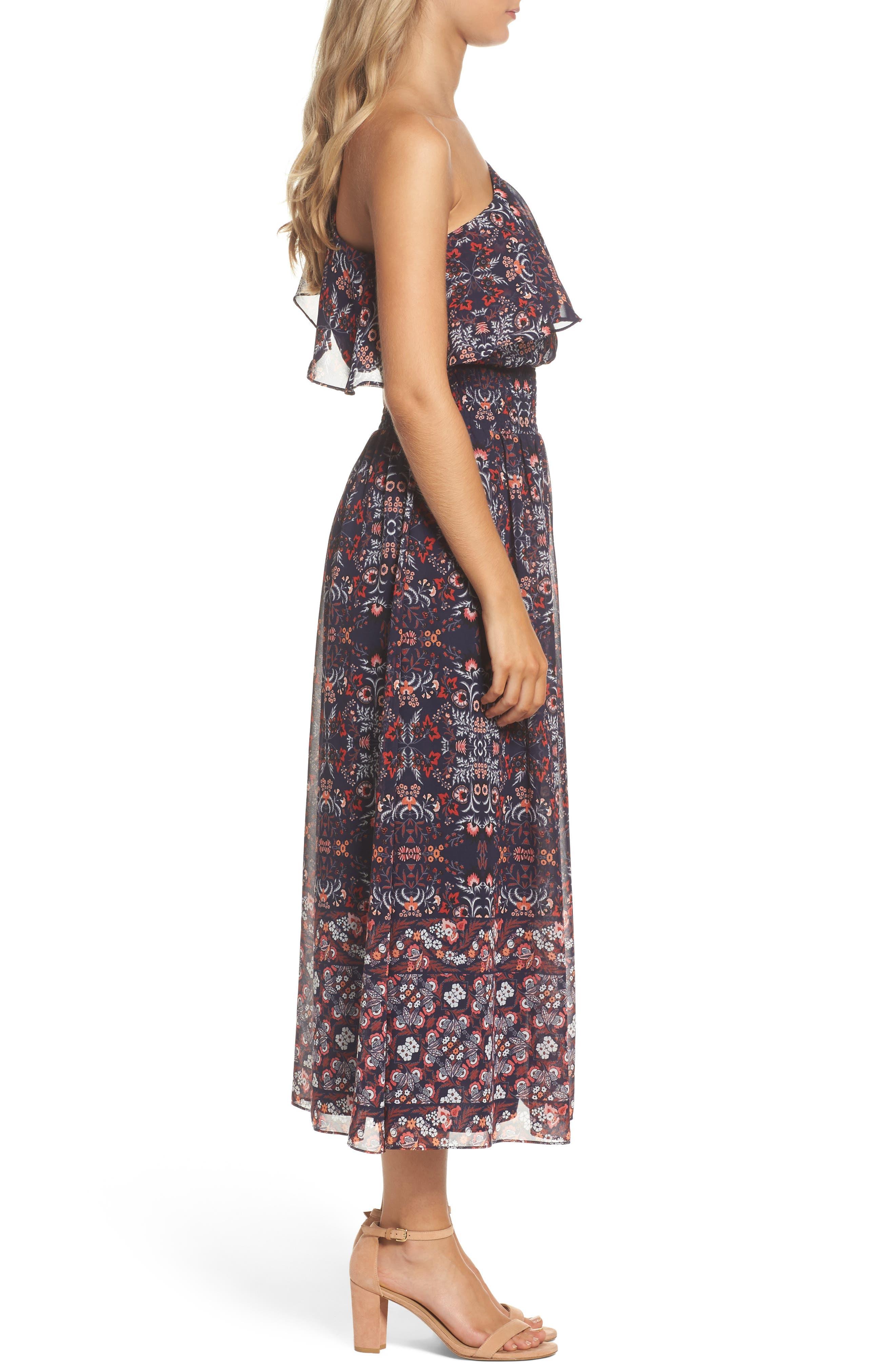 Alternate Image 3  - Vince Camuto One-Shoulder Midi Dress