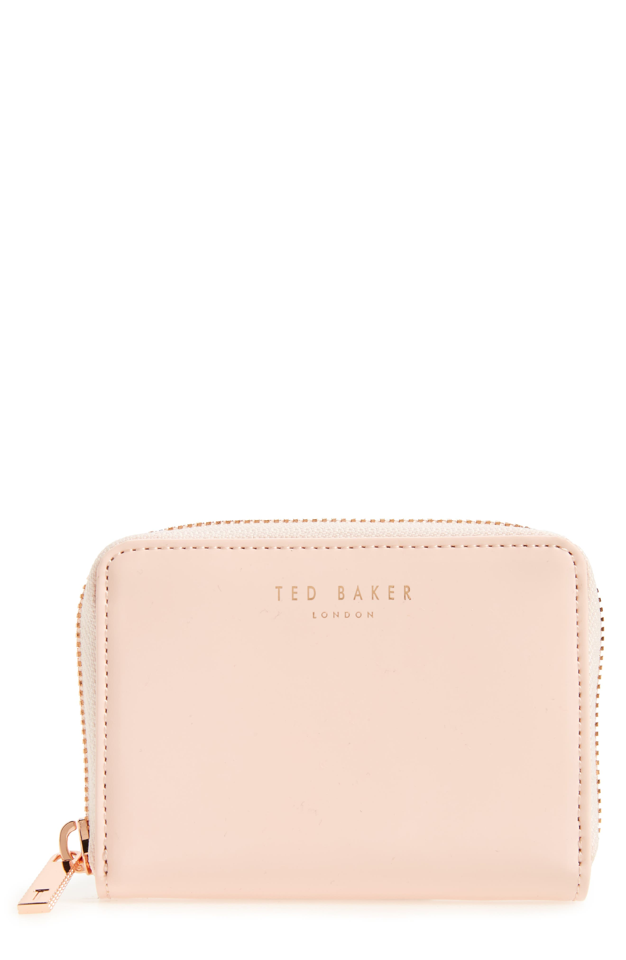Beryl Leather Mini Purse,                         Main,                         color, Baby Pink