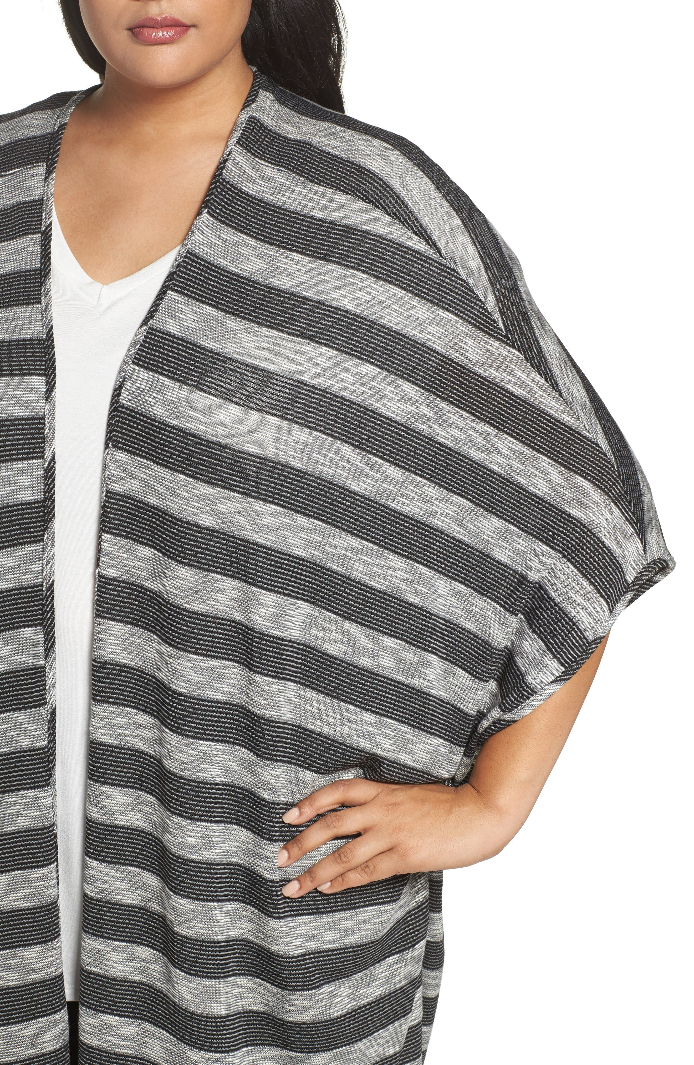 Alternate Image 4  - Tart Alania Stripe Cardigan (Plus Size)