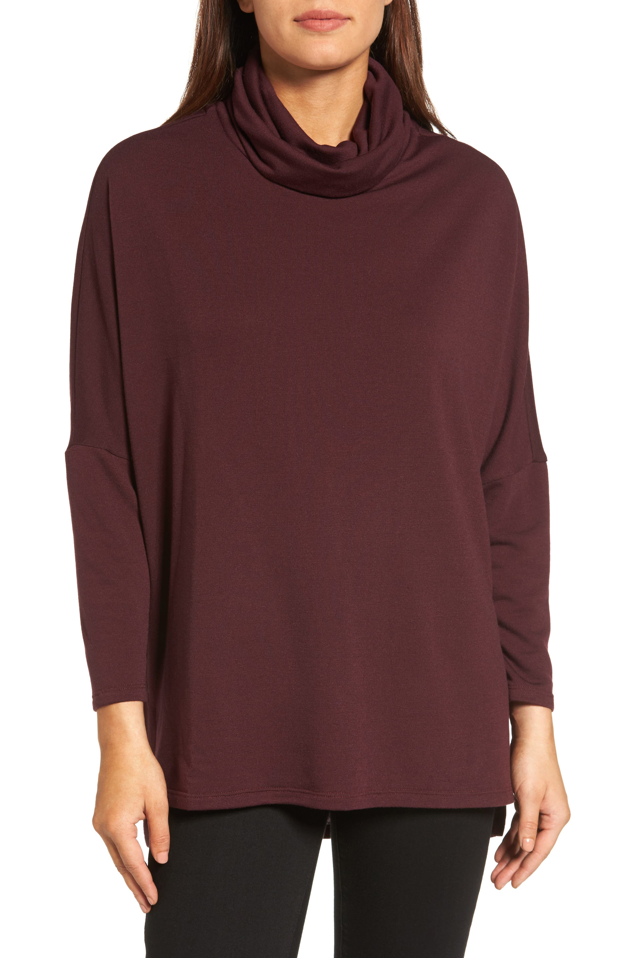 Caslon® Cowl Neck Tunic Sweater (Regular & Petite)