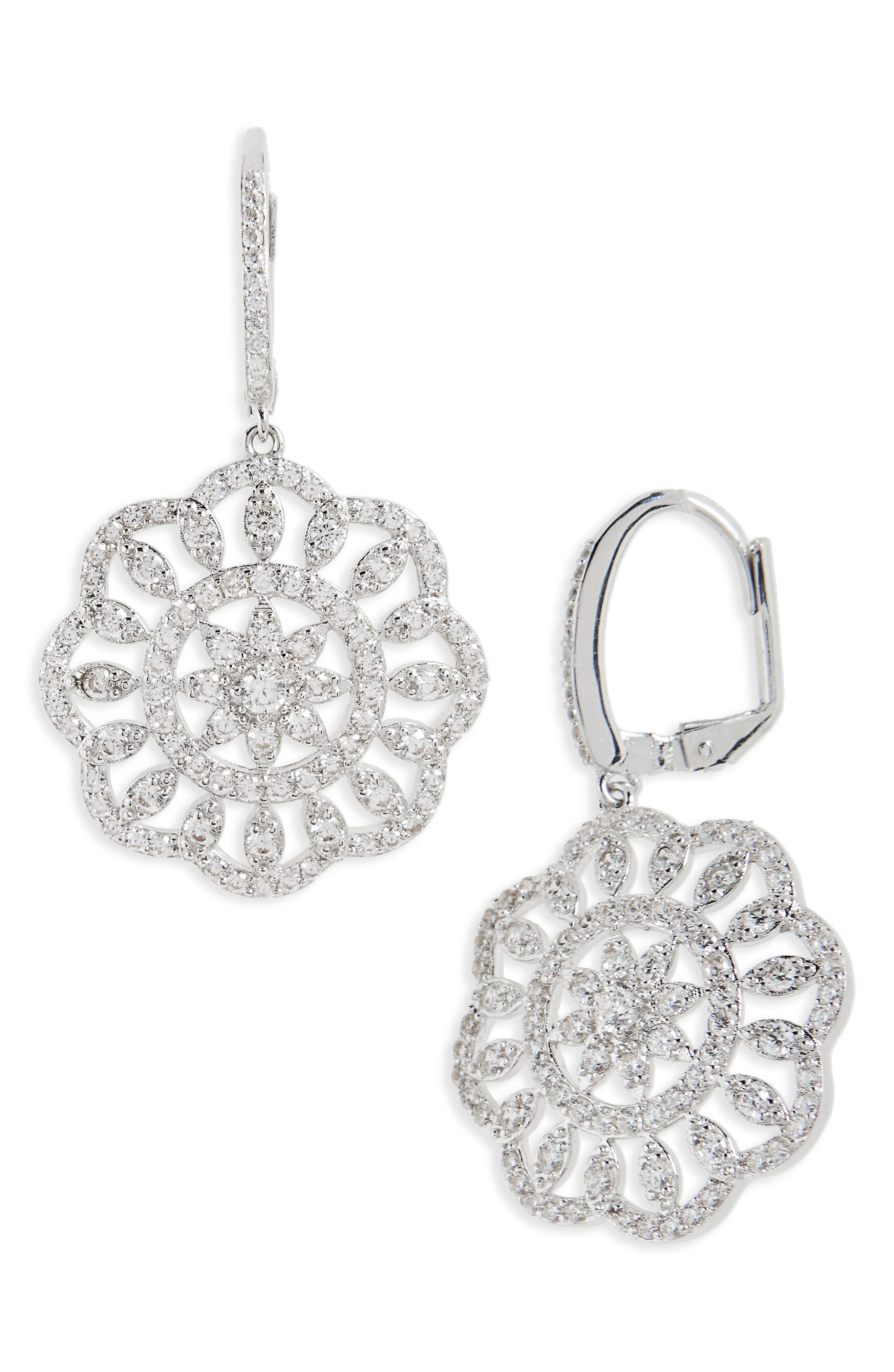 NINA Sunburst Drop Earrings