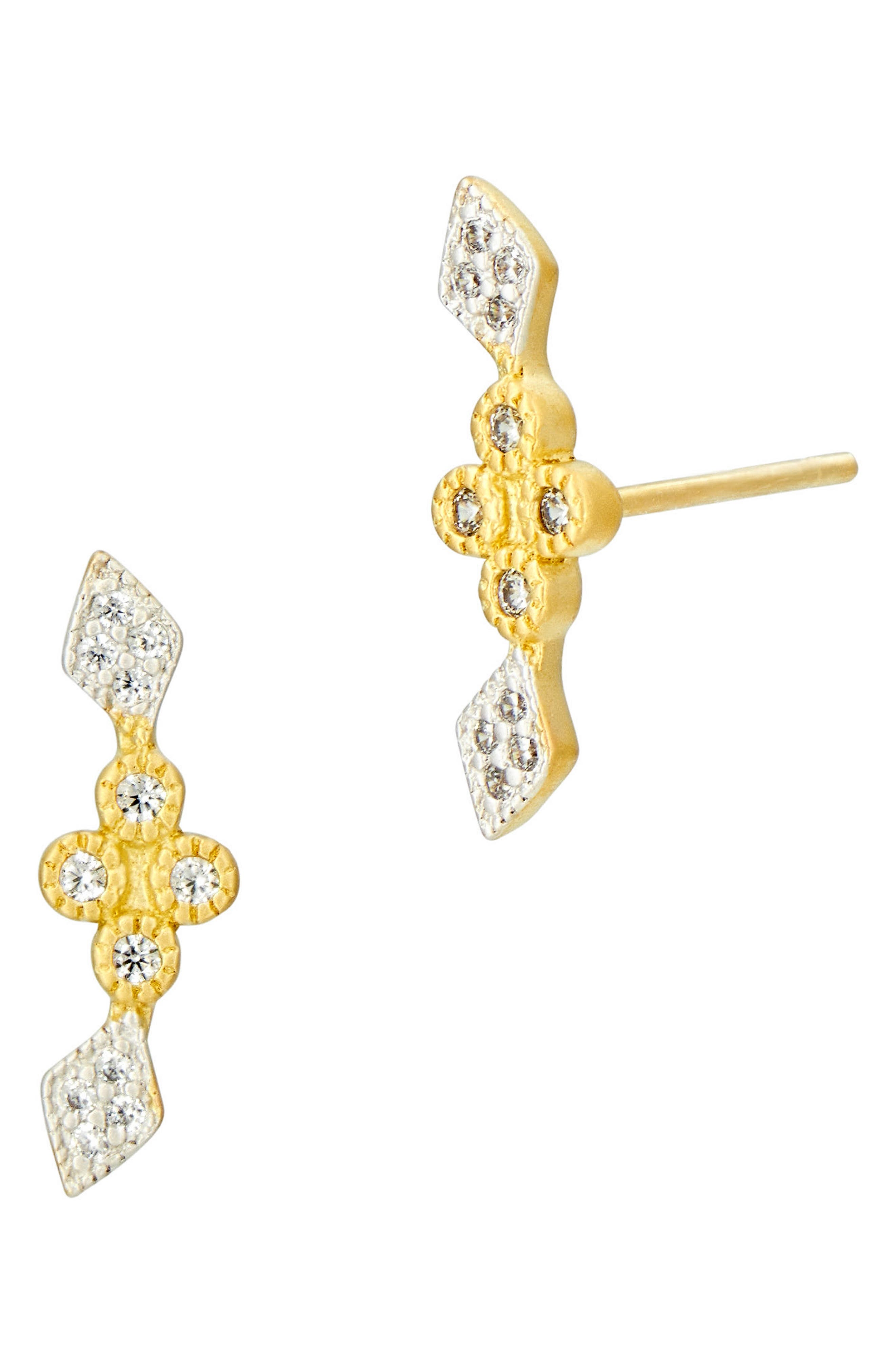 Visionary Fusion Stud Earrings,                         Main,                         color, Gold/ Silver
