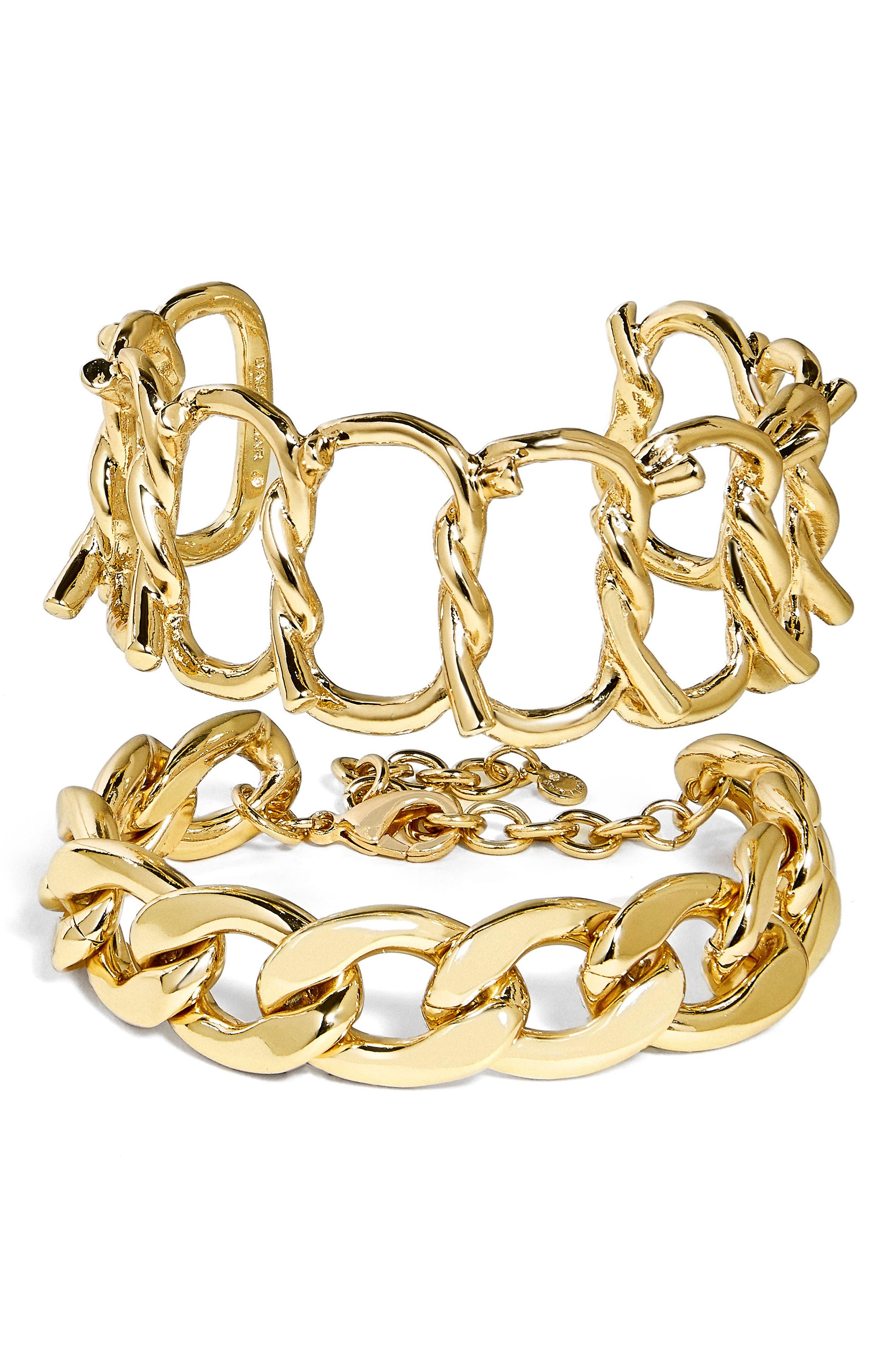 BaubleBar Set of 2 Chain Bracelets