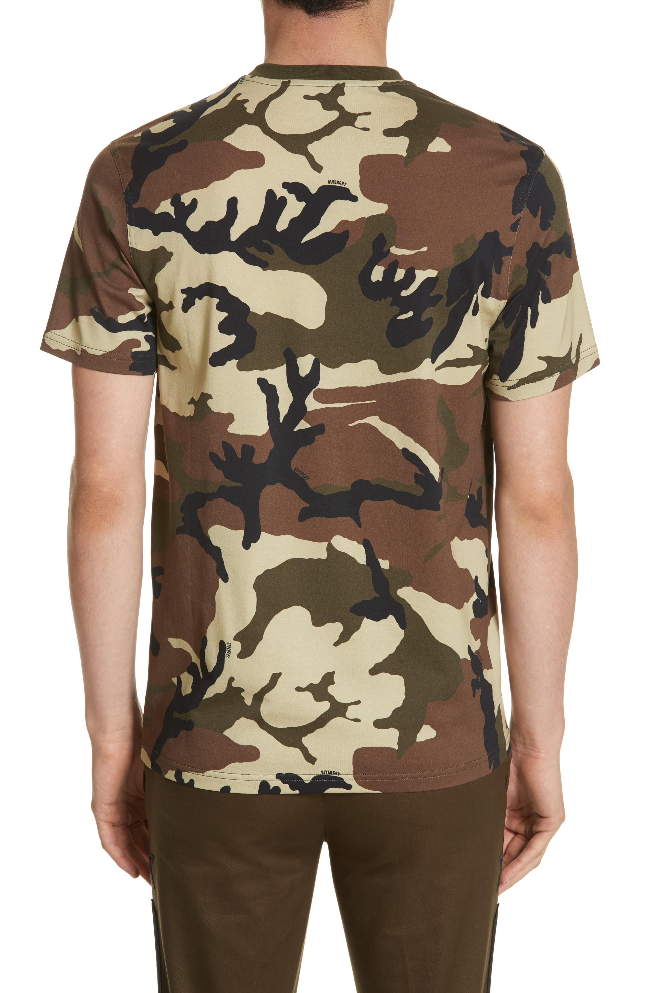 Extra Trim Fit Camo Print T-Shirt,                             Alternate thumbnail 2, color,                             Camo
