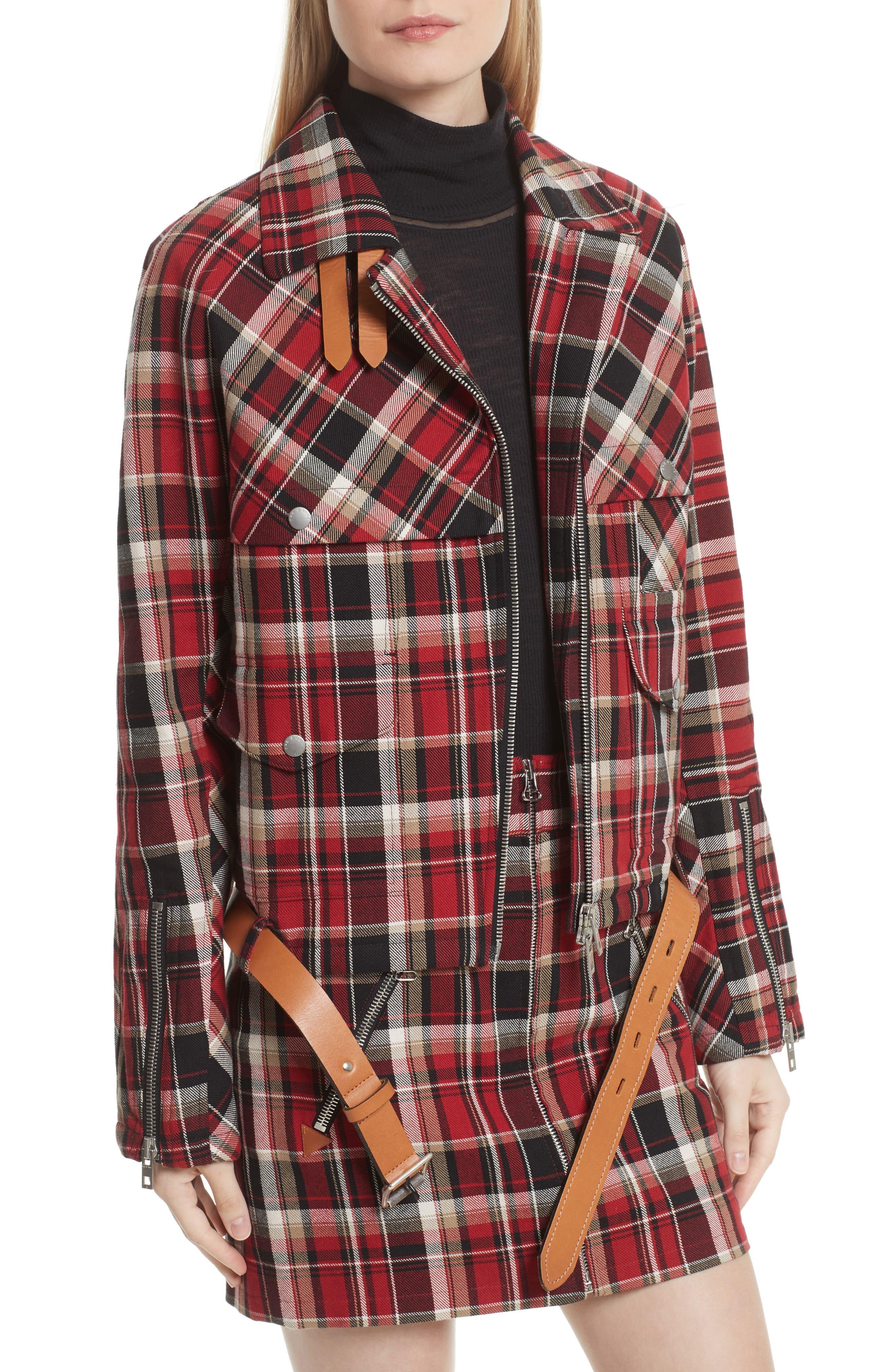 Alternate Image 4  - rag & bone Etiene Plaid Jacket with Genuine Lamb Fur Collar