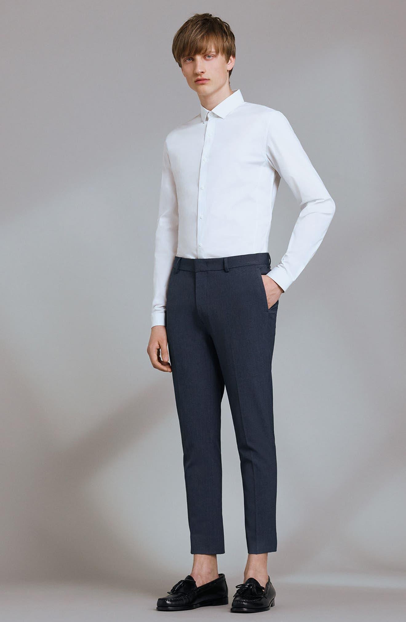 Long Sleeve Woven Shirt,                             Alternate thumbnail 7, color,                             White