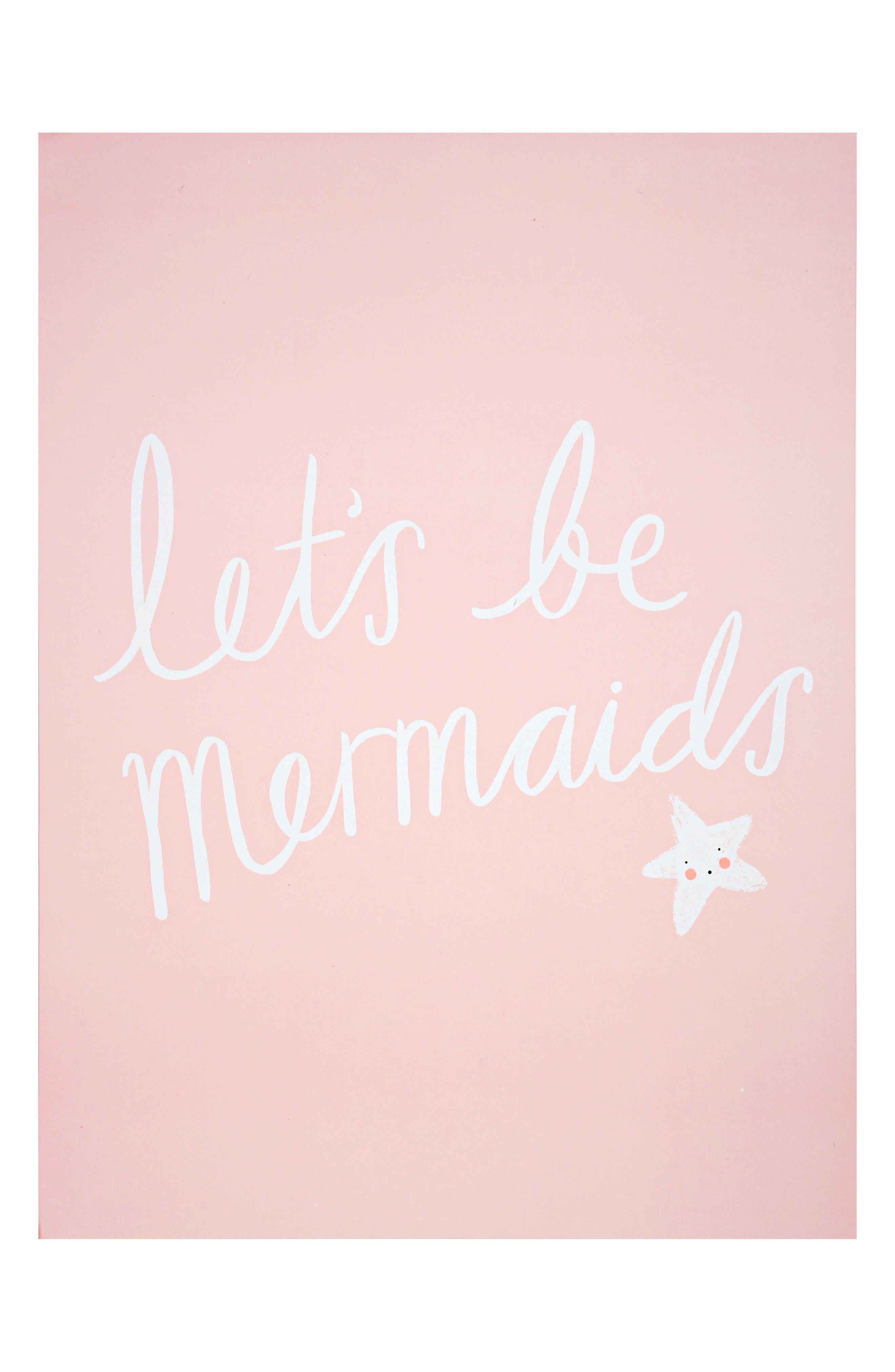 Mermaid 2-Pack Art Prints,                             Alternate thumbnail 2, color,                             Pink