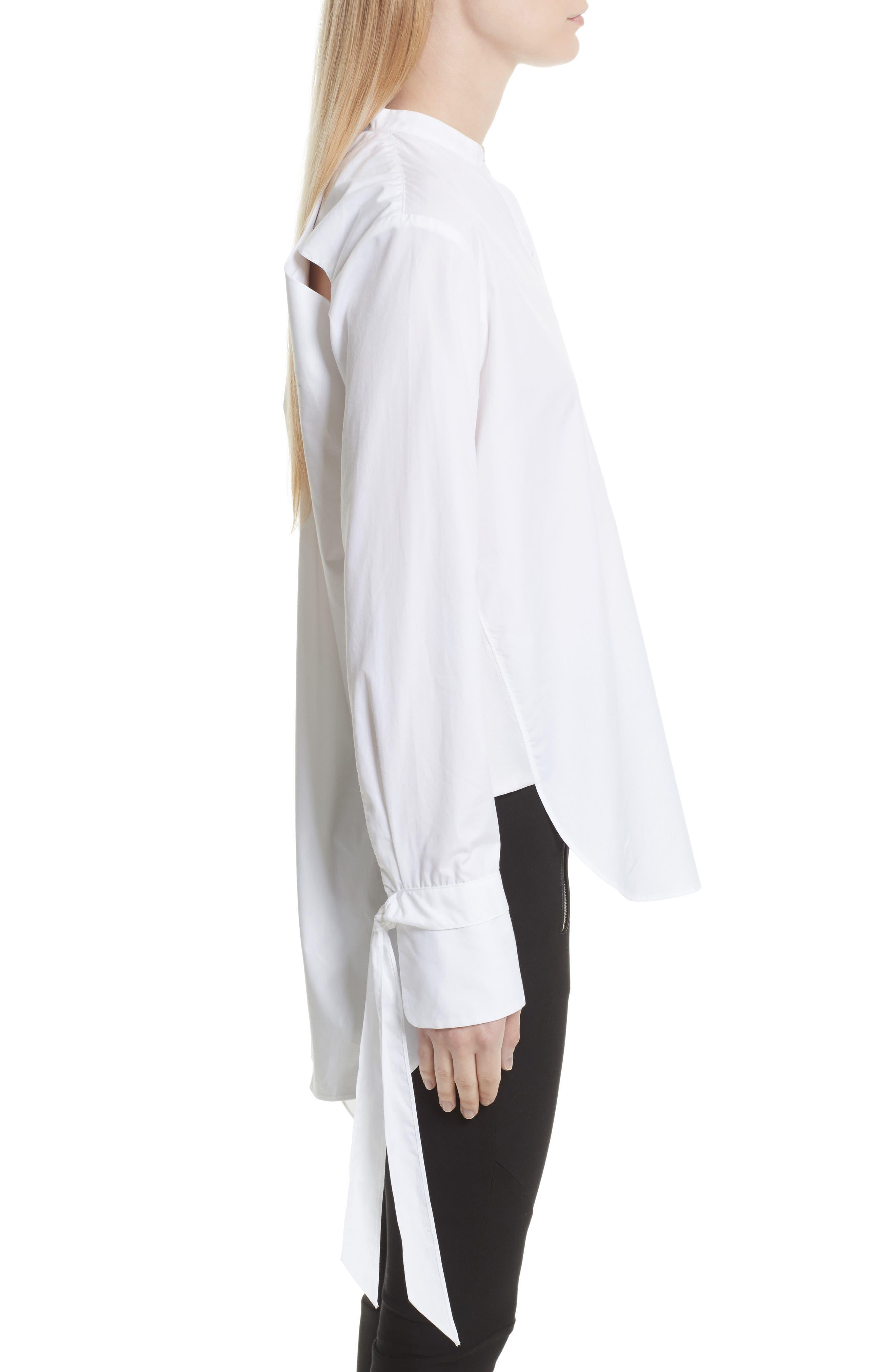 Dylan Cotton Shirt,                             Alternate thumbnail 4, color,                             White