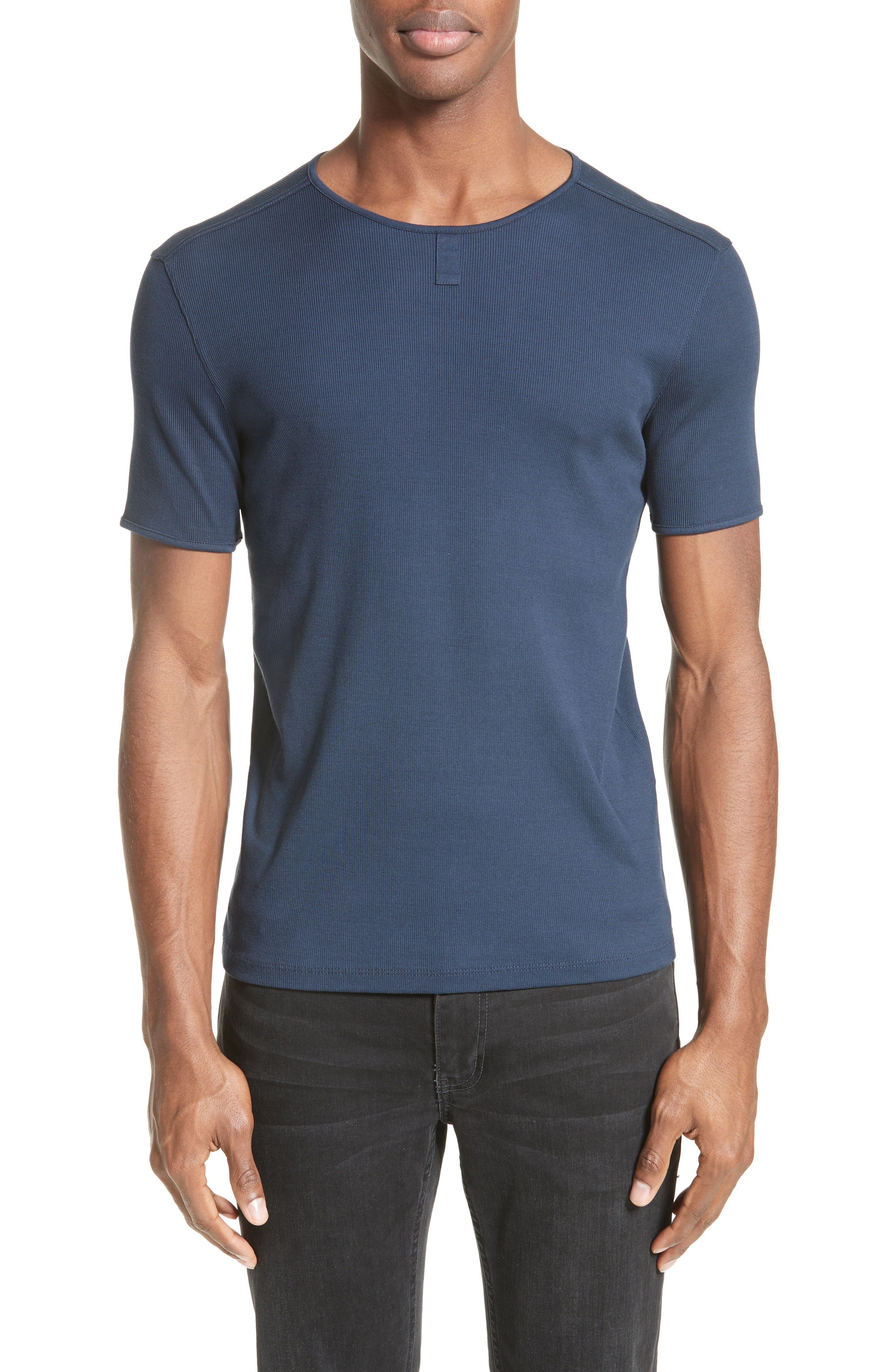John Varvatos Collection Ribbed Crewneck T-Shirt