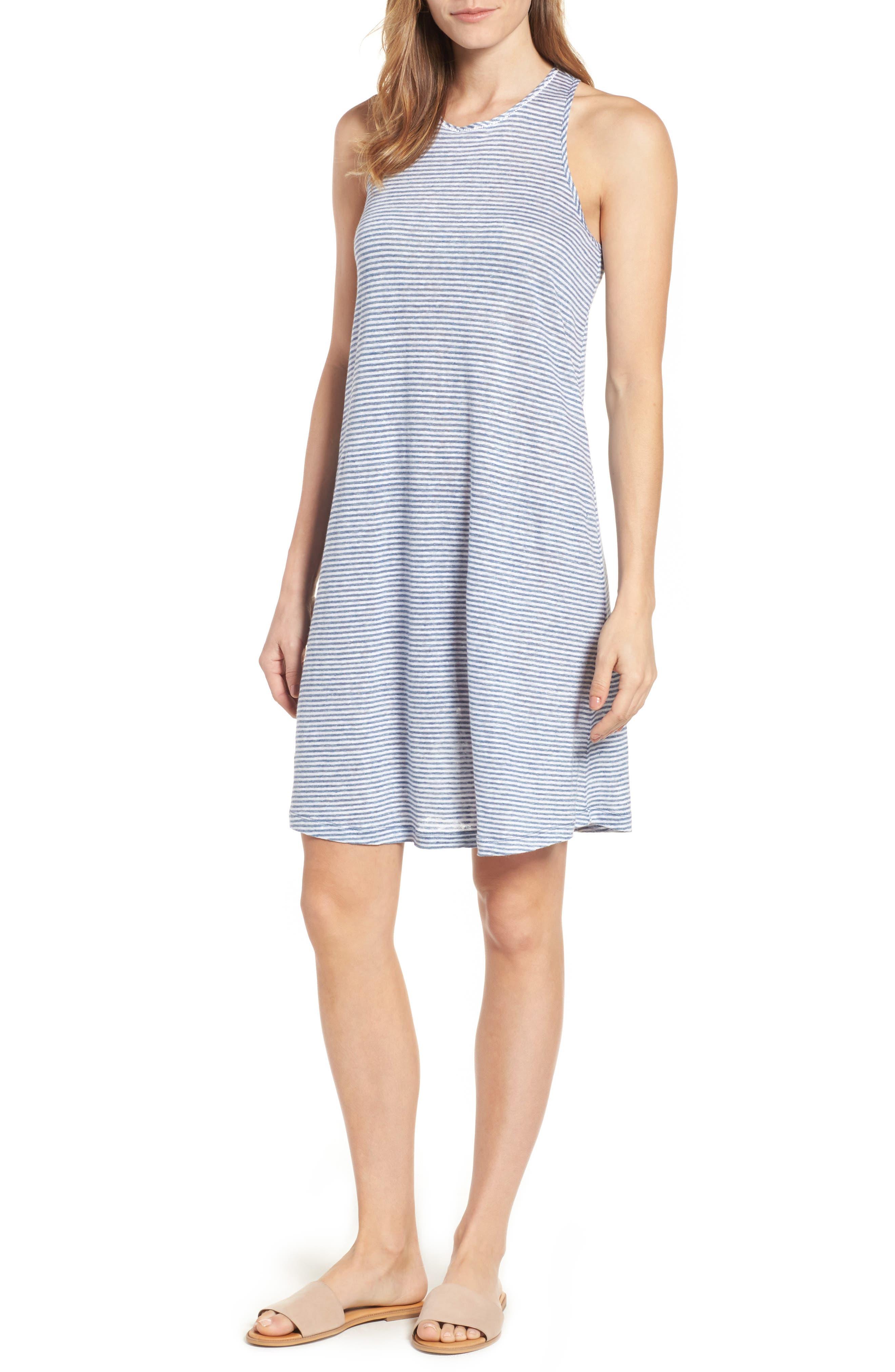 VINEYARD VINES Stripe Linen Knit Tank Dress