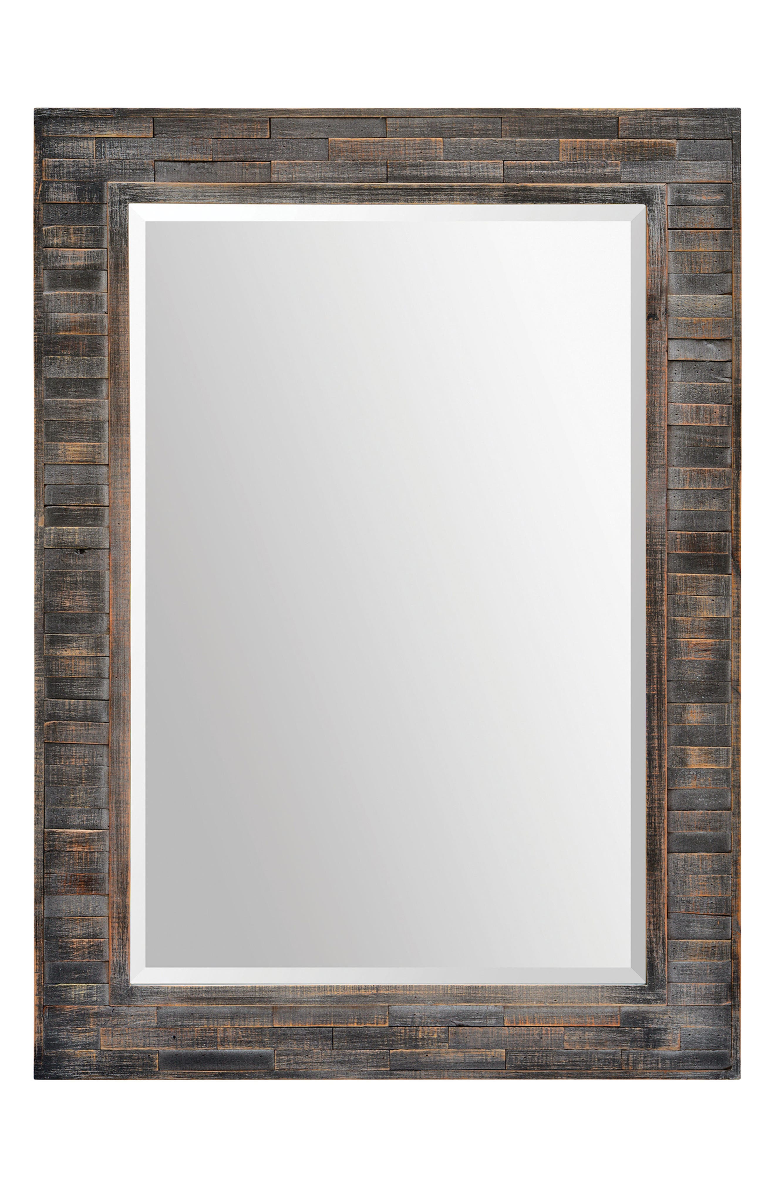 Liuhana Wooden Mirror,                         Main,                         color, Dark Charcoal
