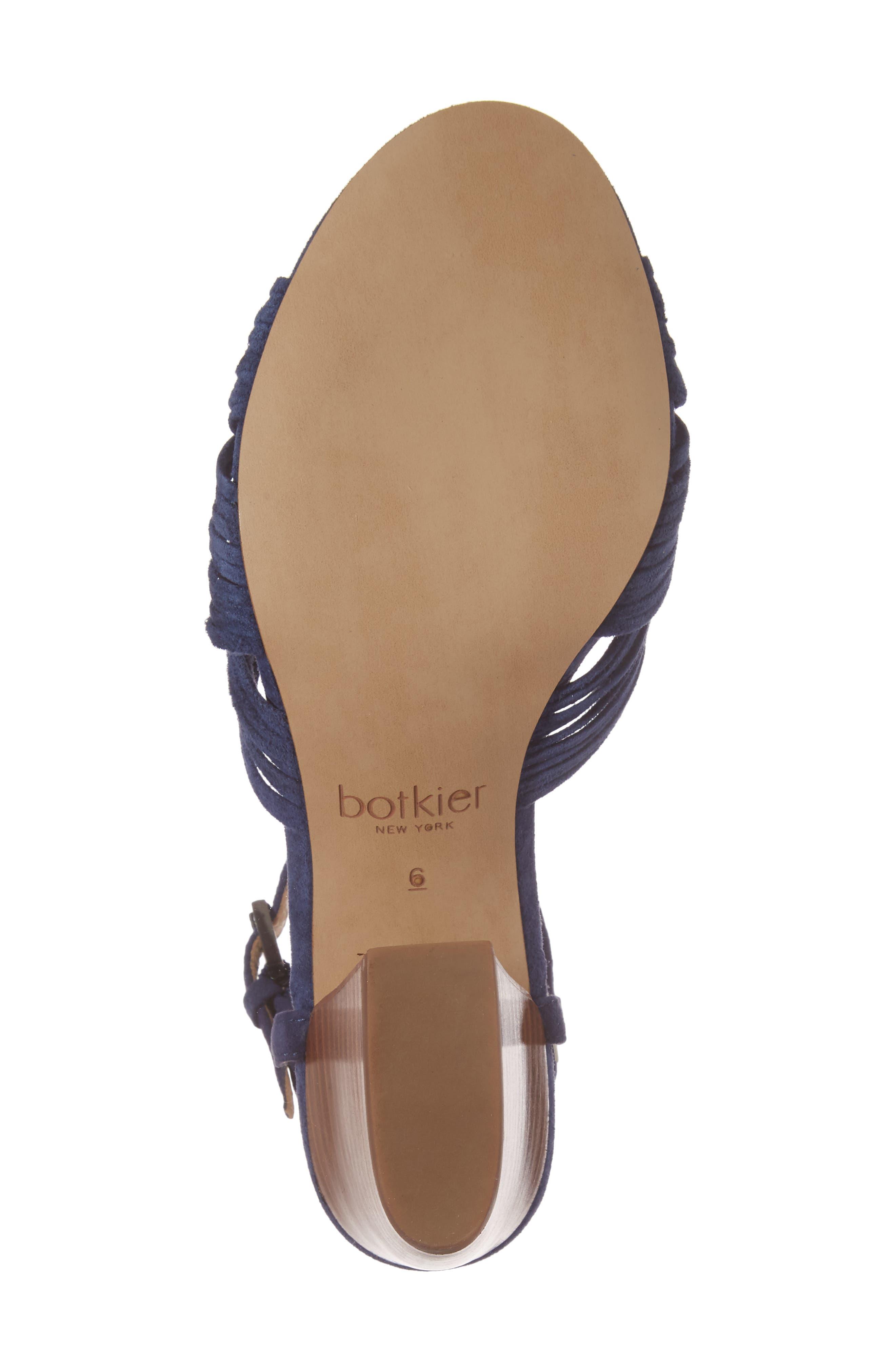 Patsy Block Heel Sandal,                             Alternate thumbnail 6, color,                             Navy