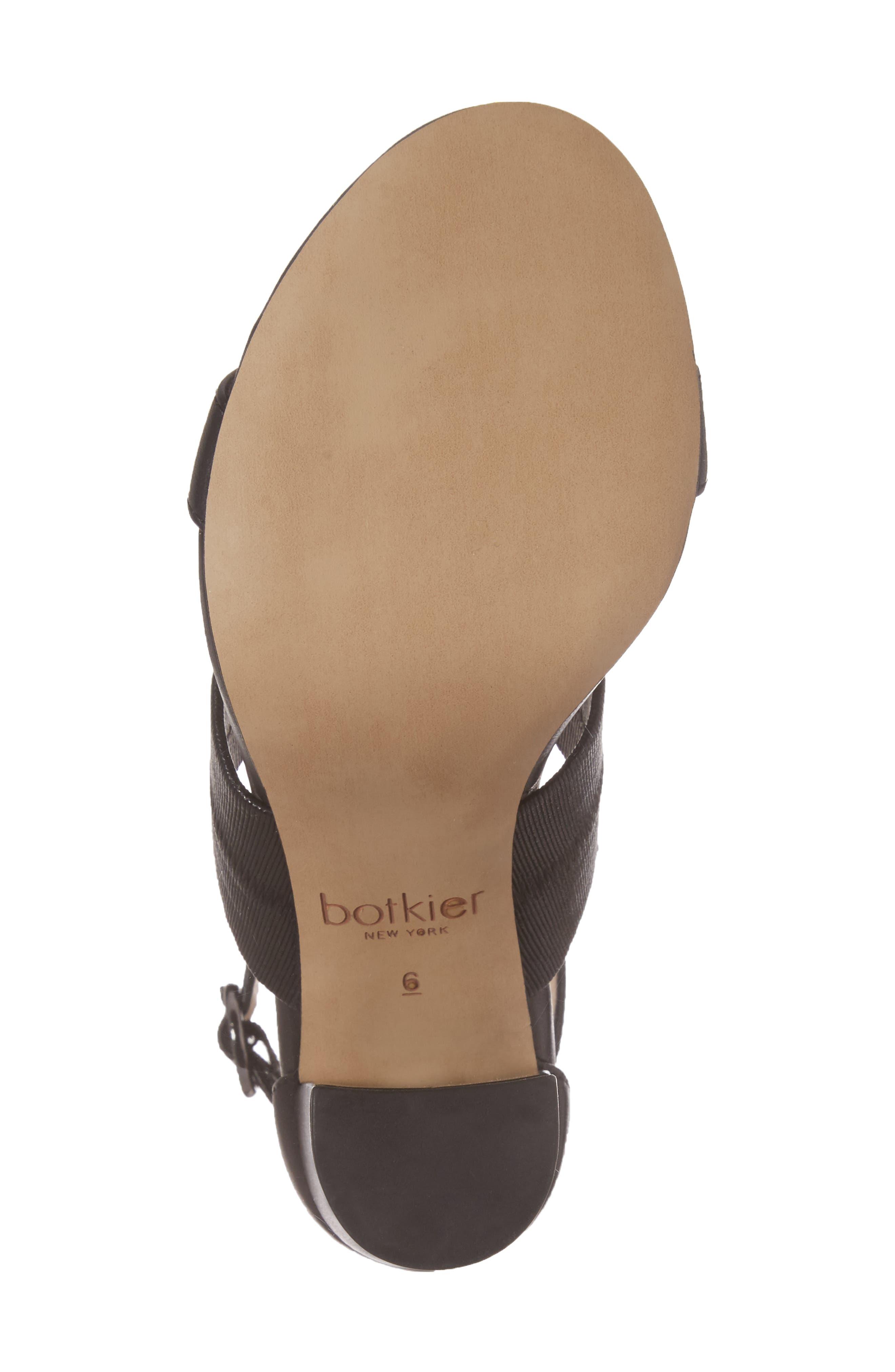 Gisella Ankle Strap Sandal,                             Alternate thumbnail 6, color,                             Black Leather