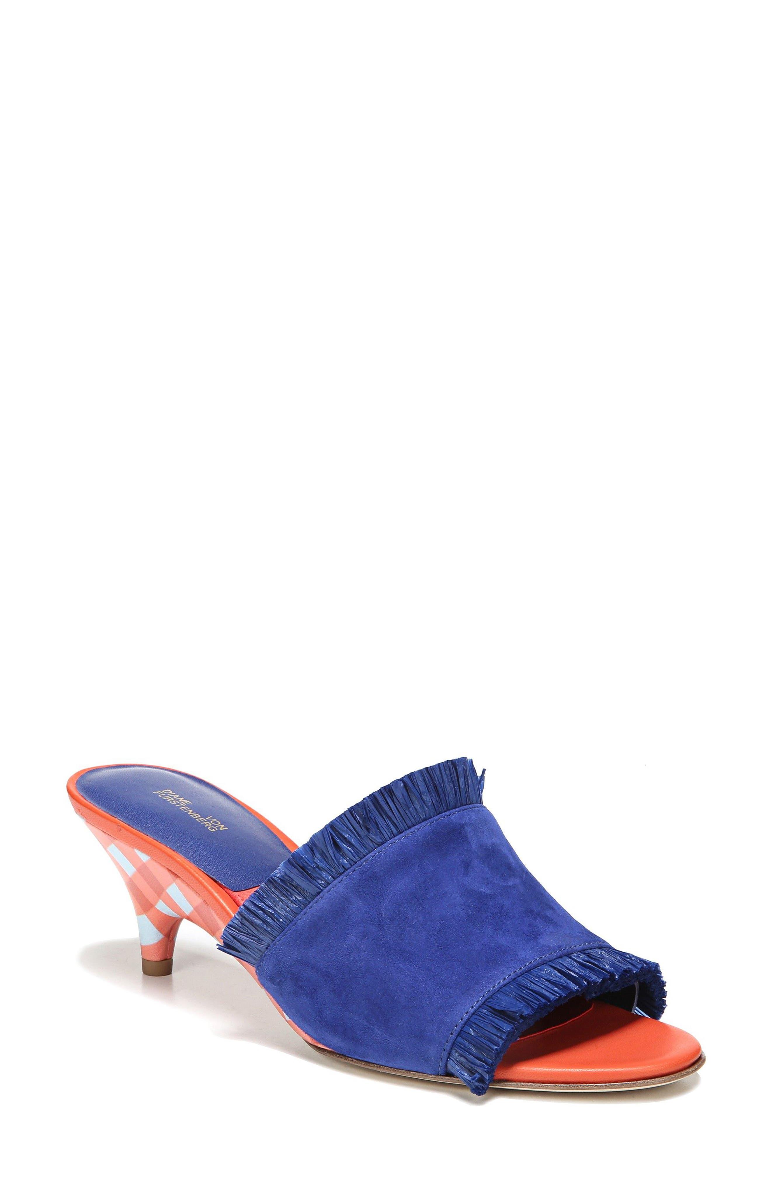 Diane von Furstenberg Gimli Kitten Heel Sandal (Women)